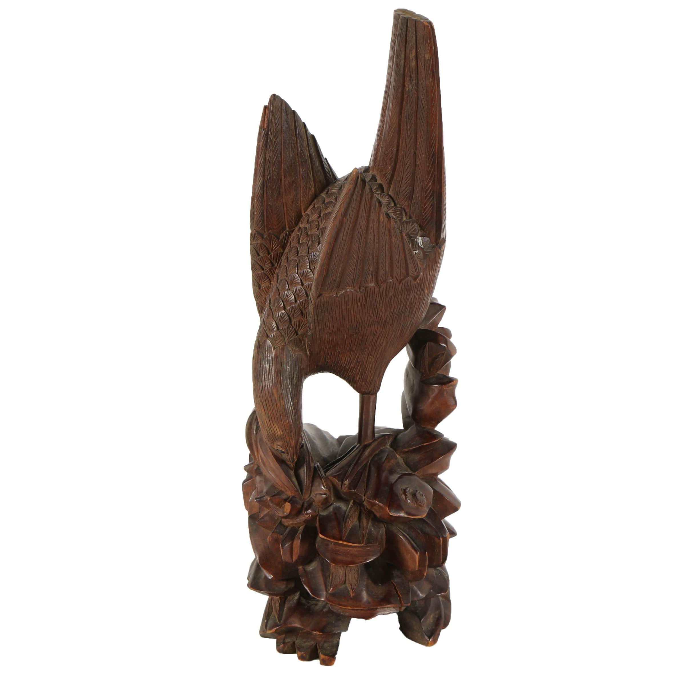 Japanese Wood Sculpture of Sea Bird