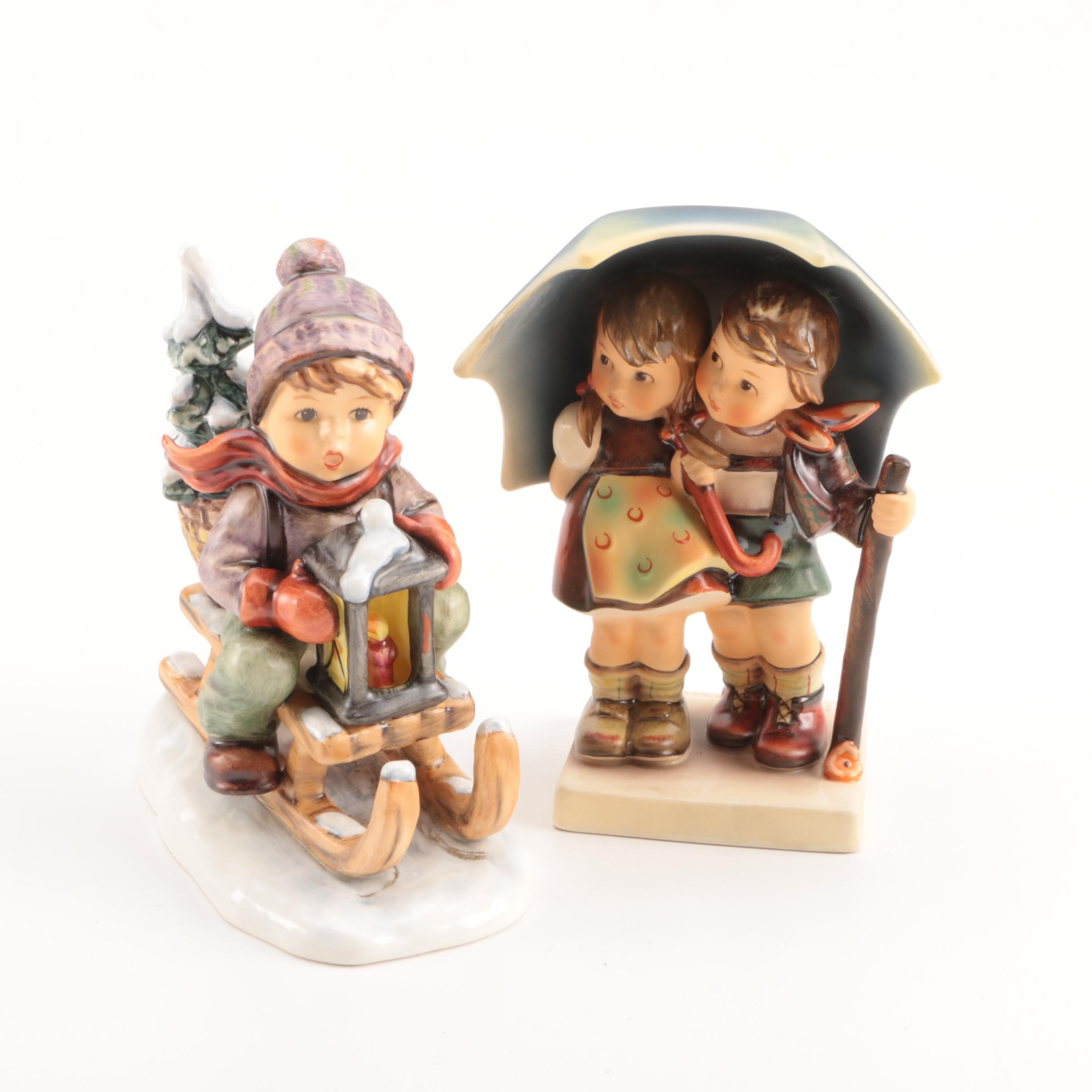 """Hummel """"Stormy Weather"""" and """"Ride Into Christmas"""" Figurines"""