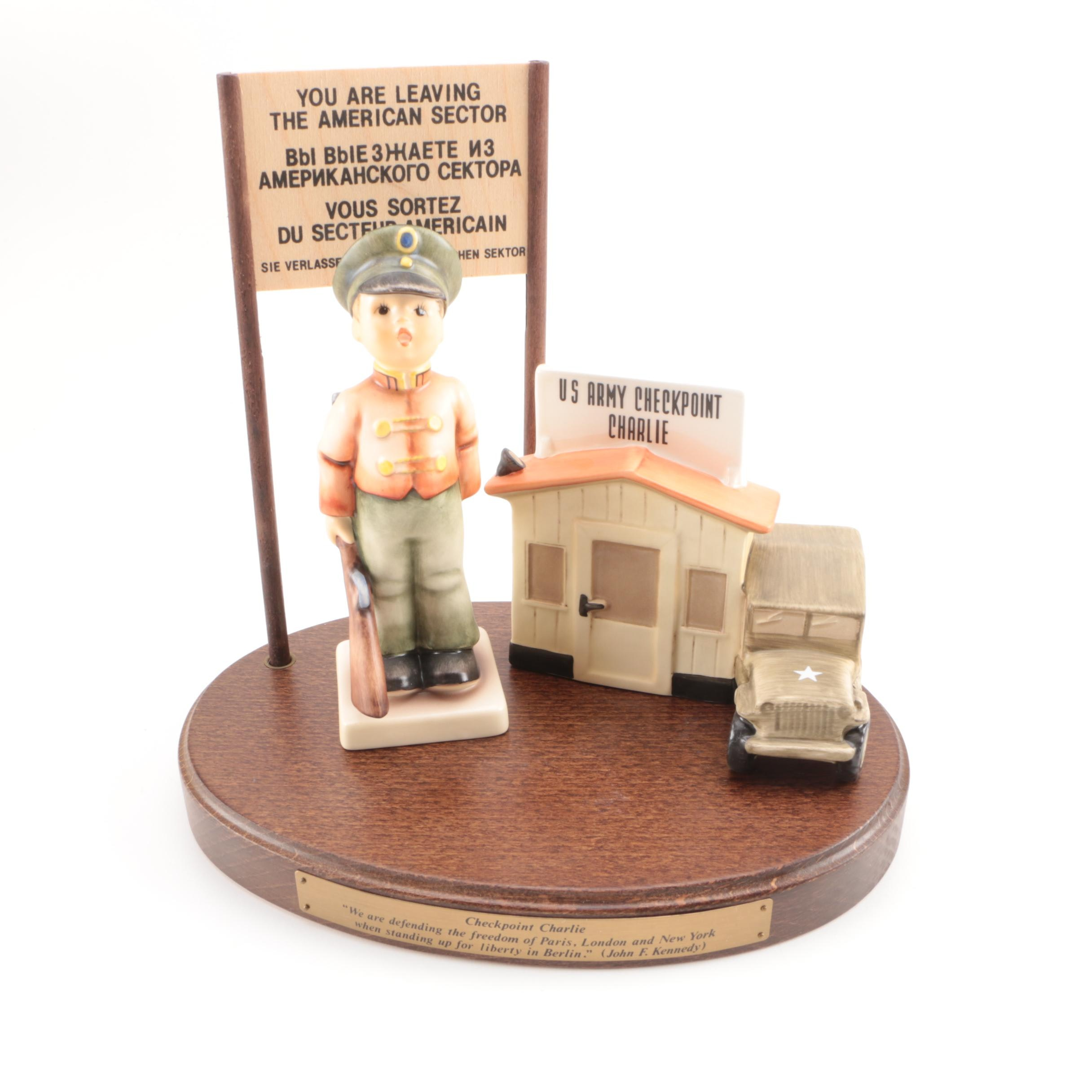 "Goebel Hummel ""Checkpoint Charlie"" Figurine with COA from the ""Berlin Series"""