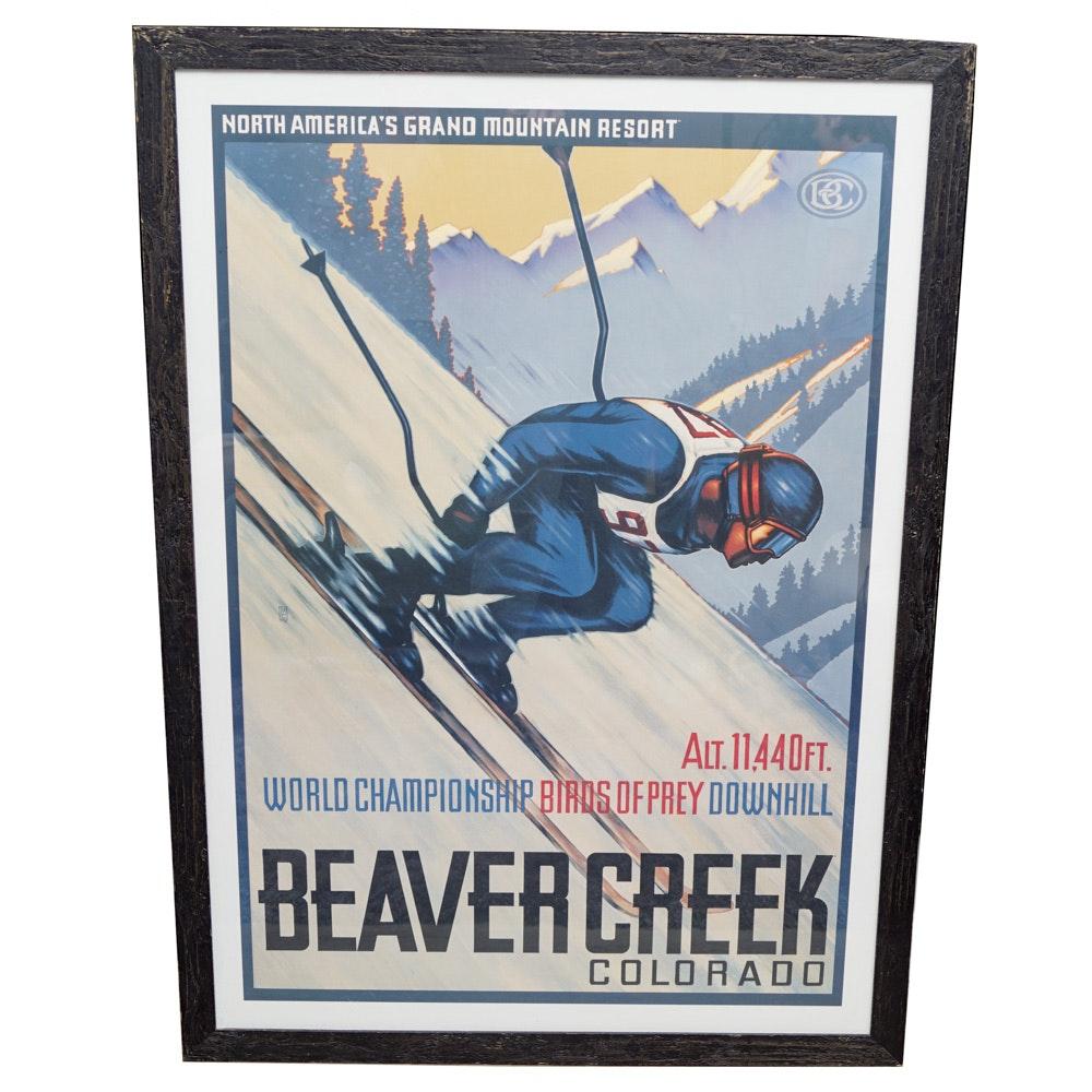 "Framed ""World Championship Birds of Prey Downhill"" Poster"