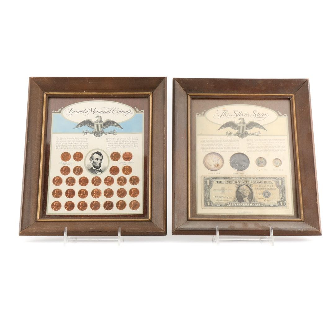 Two Framed U.S. Coin Sets