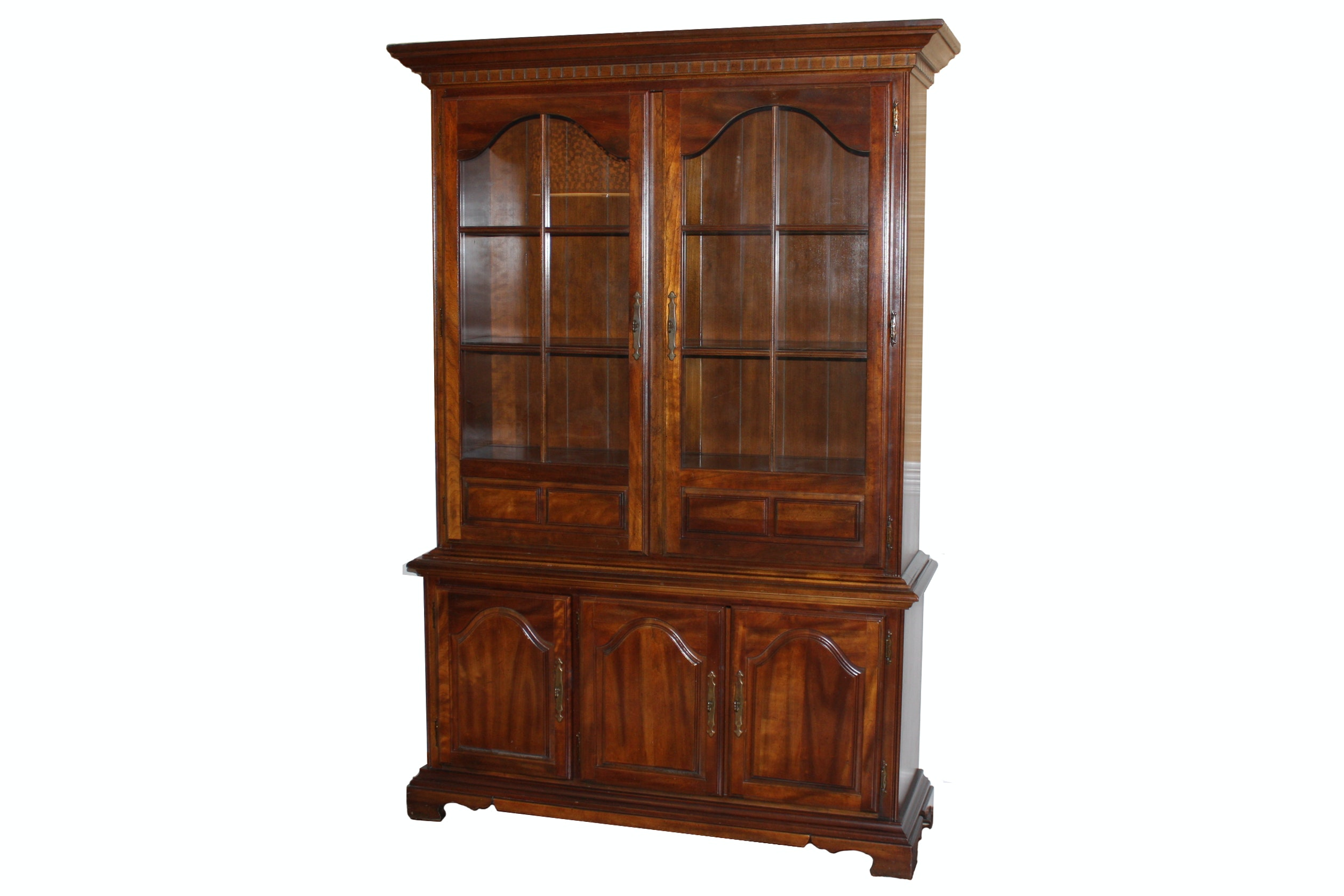 Colonial Style Cherry China Cabinet By American Drew ...