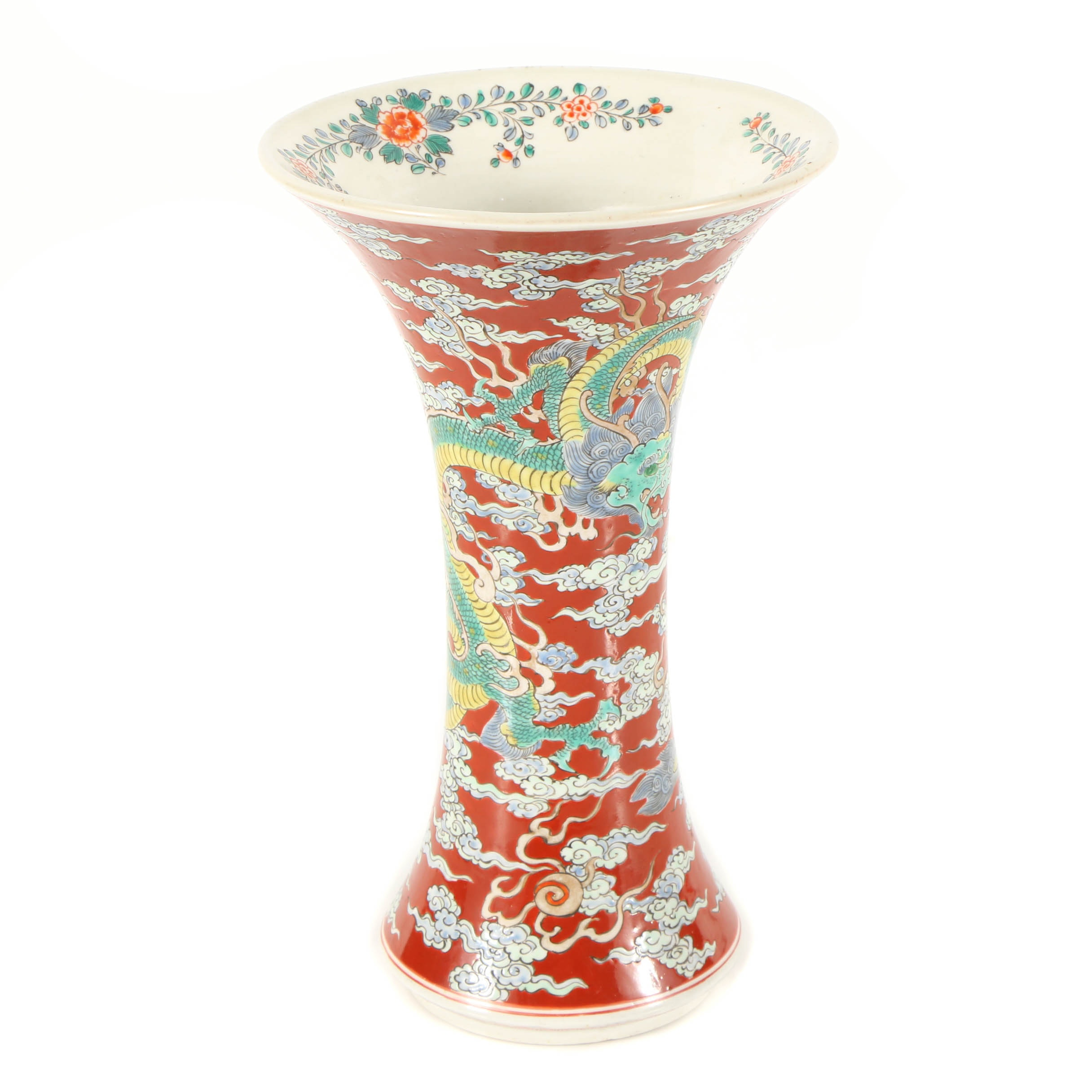Japanese Vase with Dragon Motif