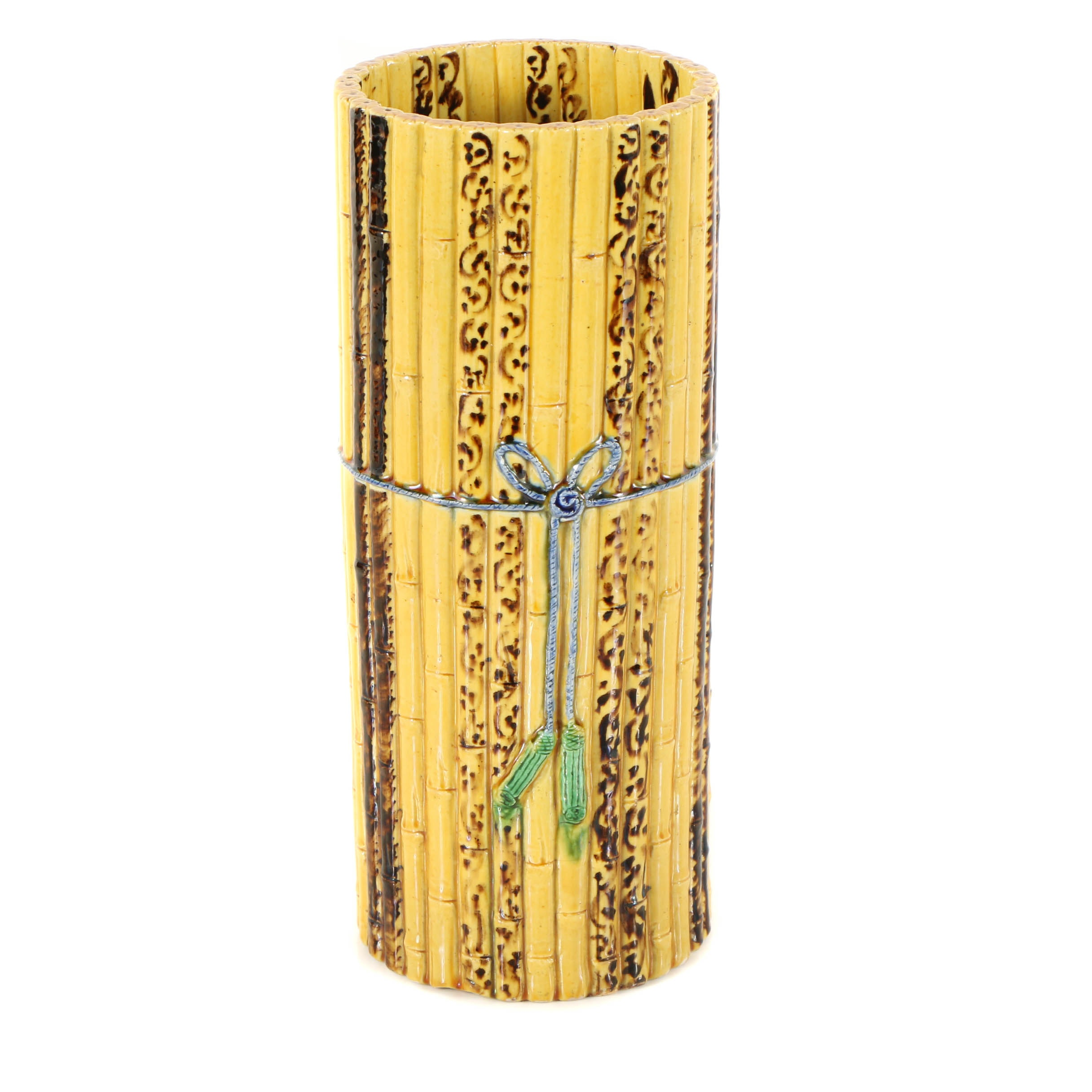 Ceramic Vase with a Tied Bamboo Motif