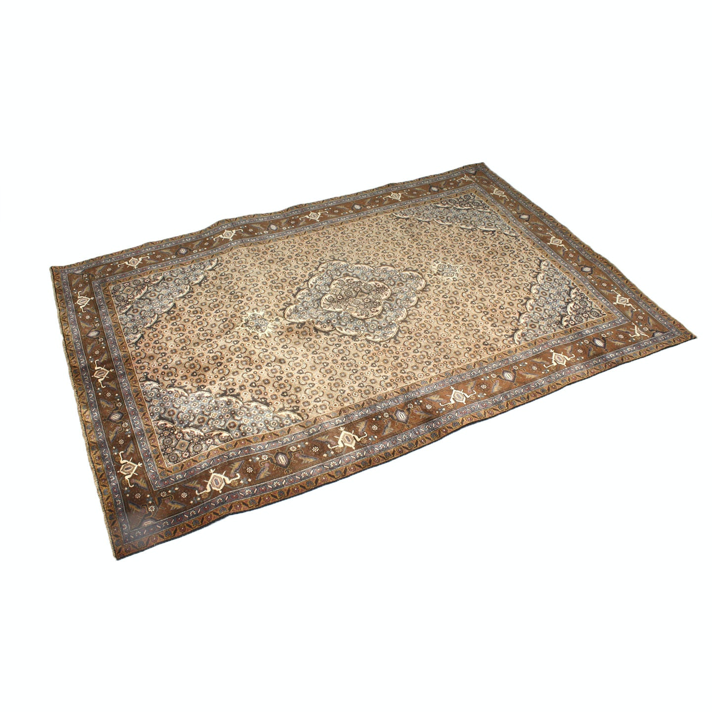 Semi-Antique Hand-Knotted Persian Seneh Bijar Room Size Rug