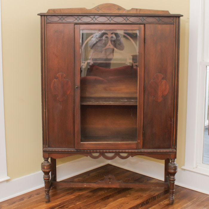 Jacobean Style China Cabinet