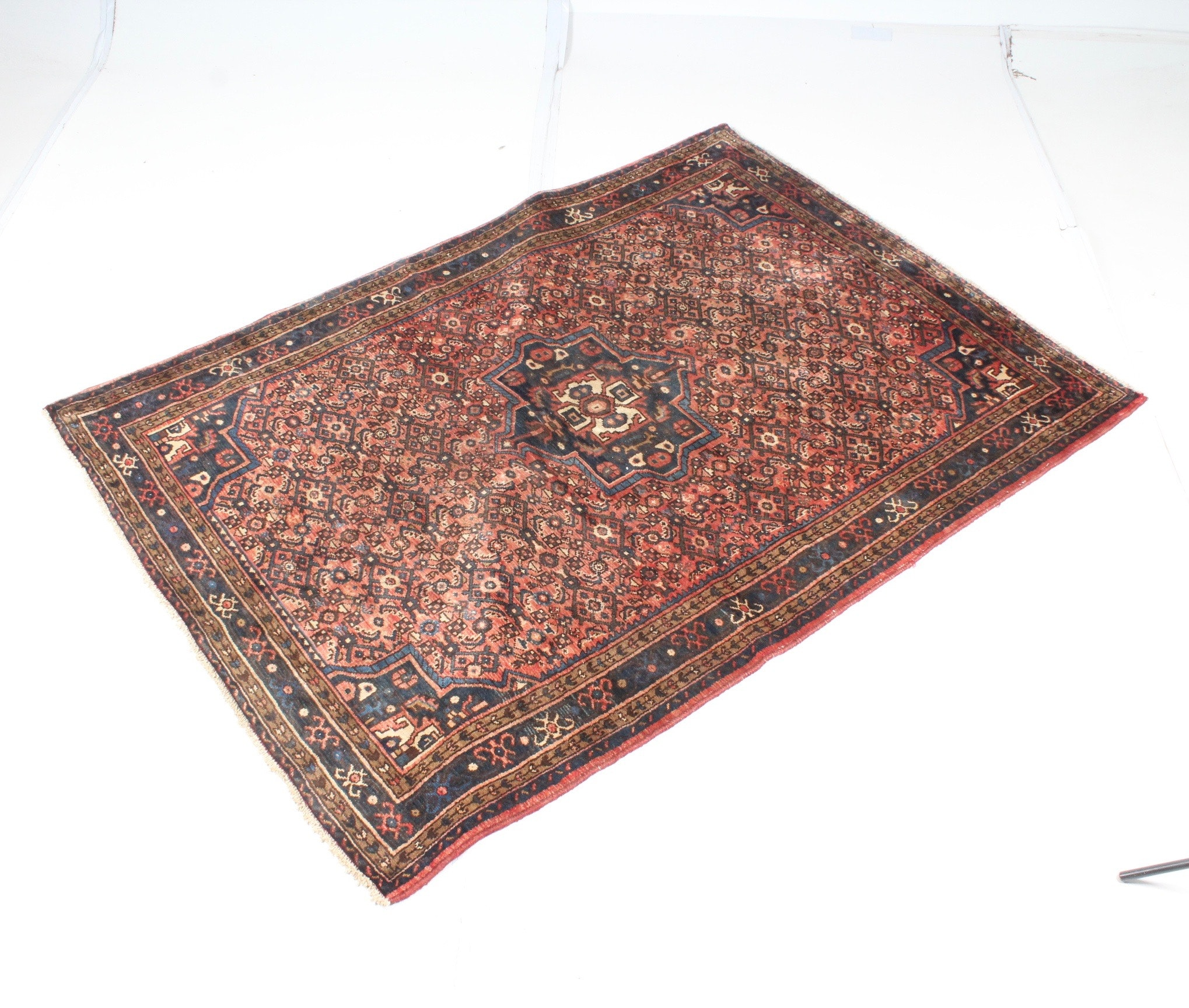 Vintage Hand-Knotted Persian Mallayer Sarouk Area Rug