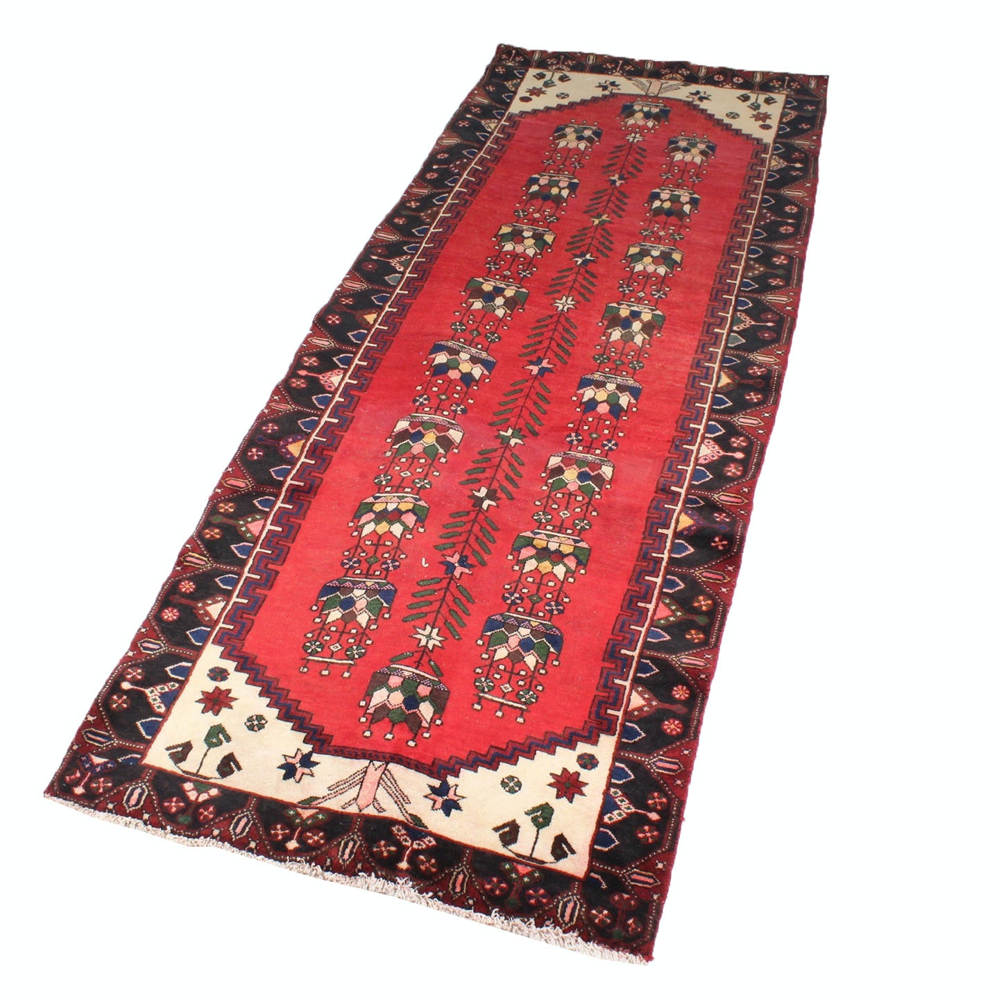 Vintage Hand-Knotted Northwest Persian Rug Runner