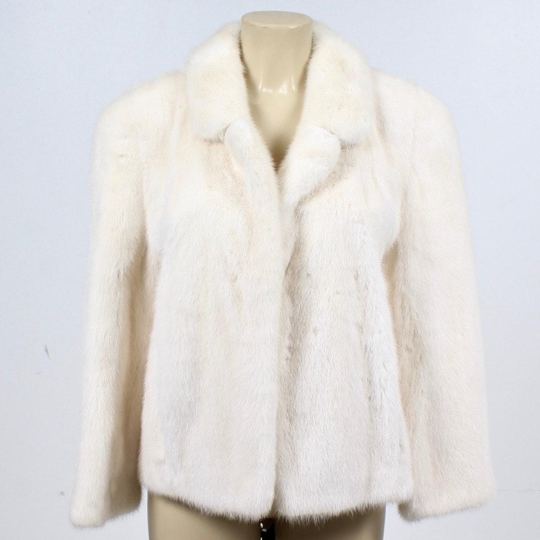 Female Skin Tourmaline Mink Fur Jacket