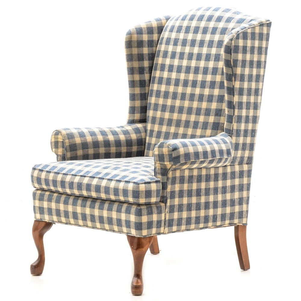 Delicieux Buffalo Check Wingback Chair ...
