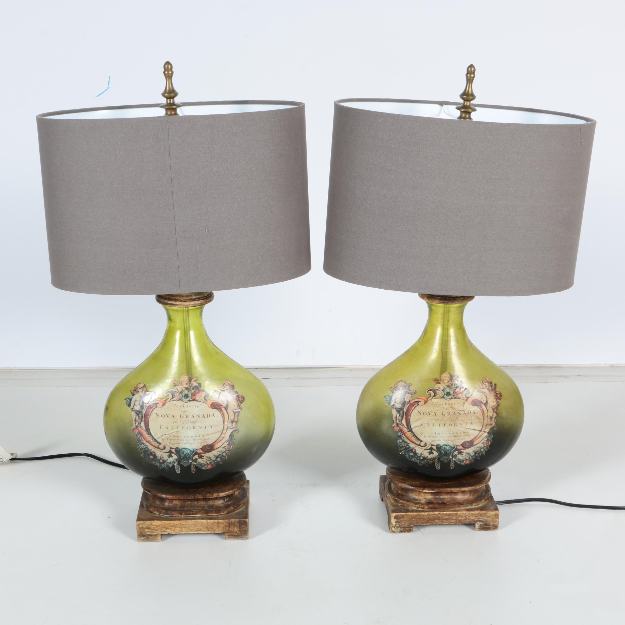 Nova Granada Glass Bottle Table Lamps Ebth