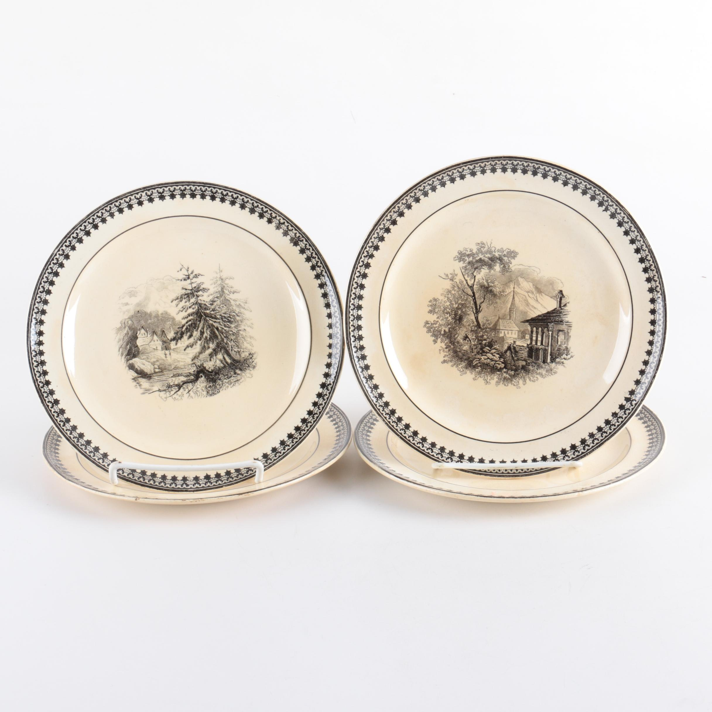 "Villeroy & Boch Old Abbey Ware ""Alpina"" Decorative Plates"