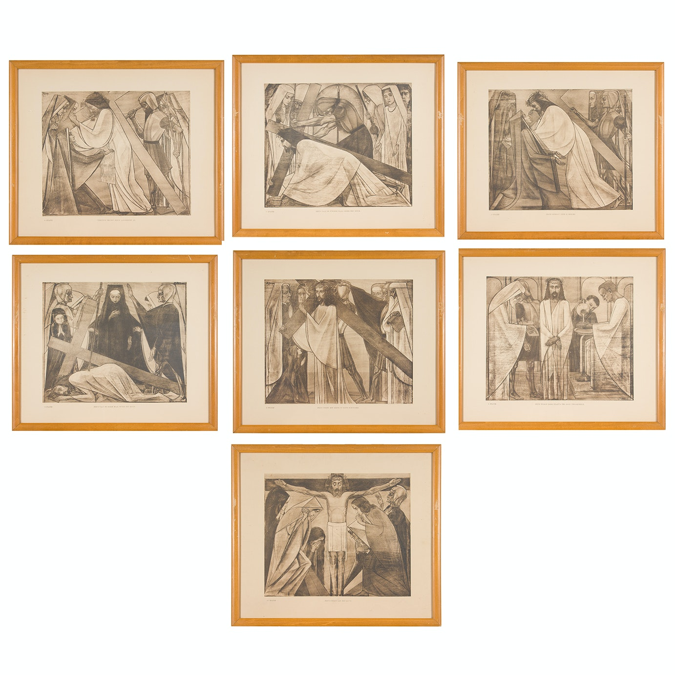 Jan Toorop Offset Lithographs After Stations of the Cross