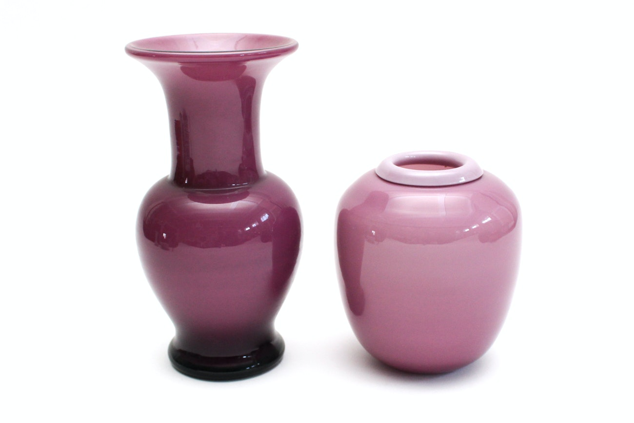 Laslo for Mikasa Plum Vases