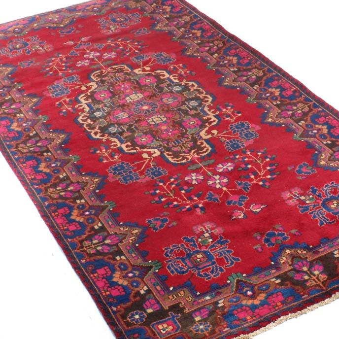 Vintage Hand Knotted Persian Lavar Kerman Area Rug
