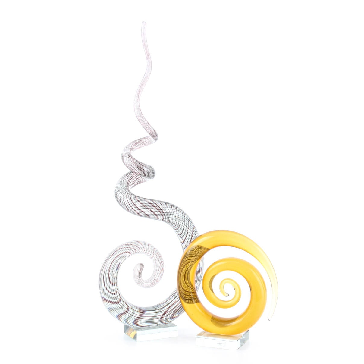 Coiled Glass Sculptures