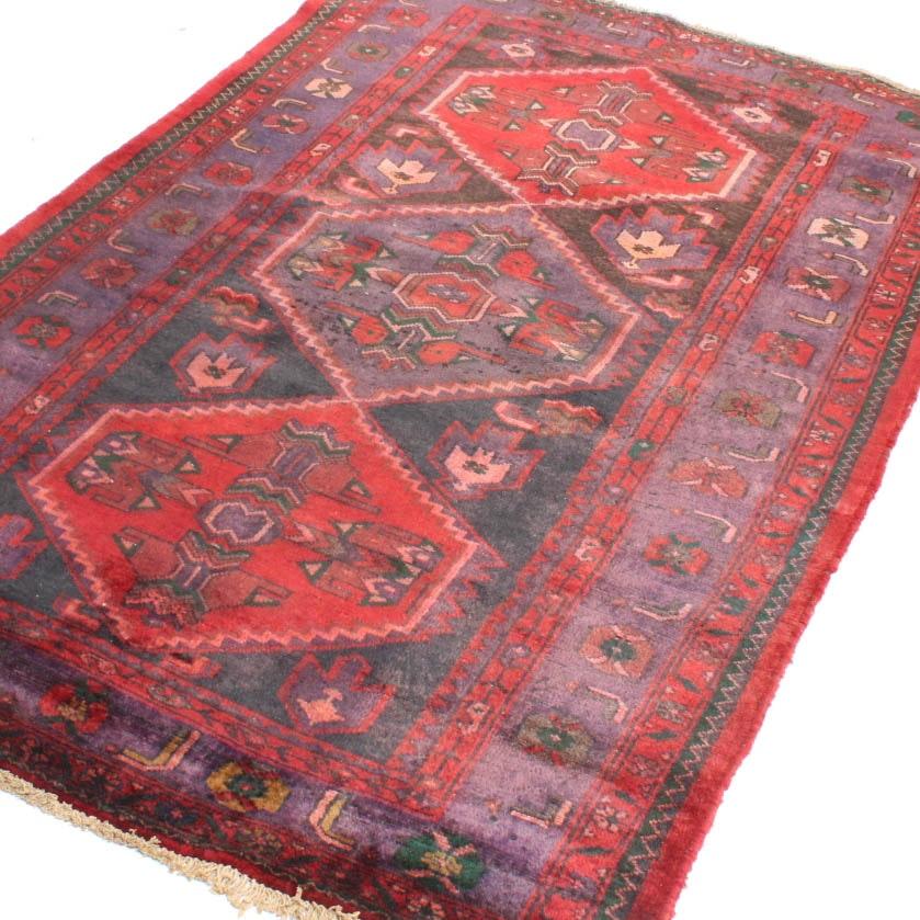 Vintage Hand Knotted Persian Karaja Heriz Area Rug