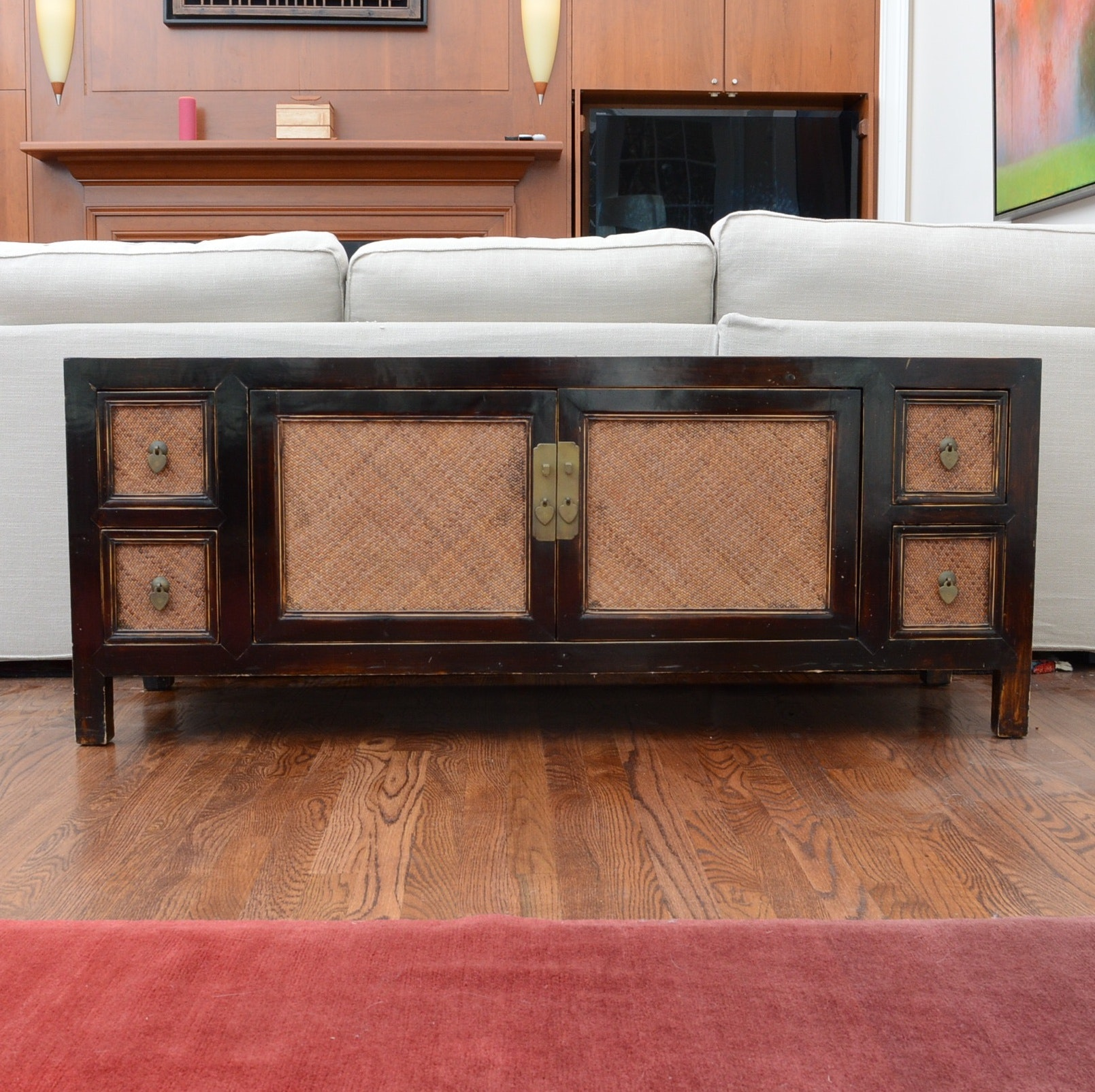 Asian Inspired Console Cabinet
