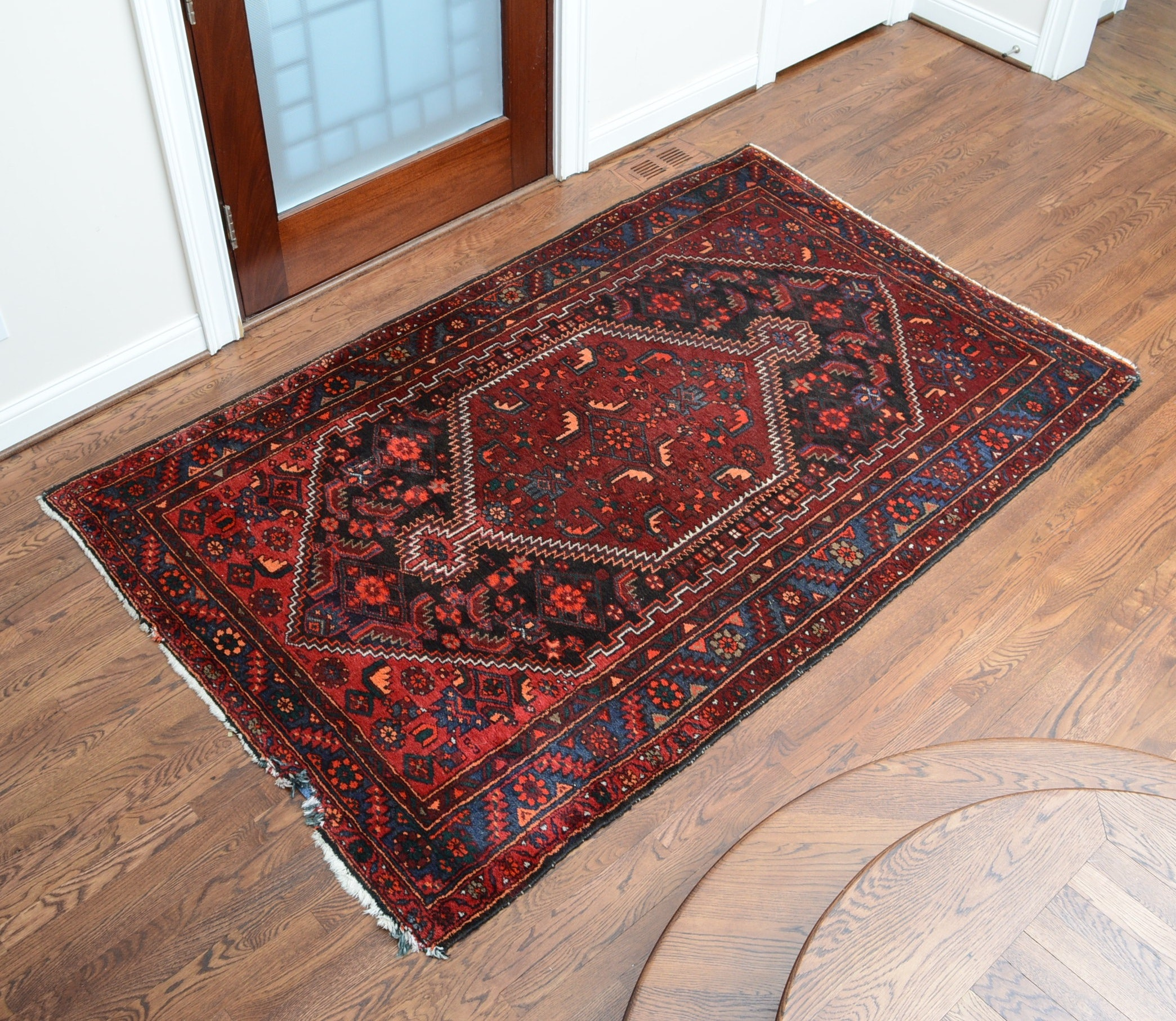 Hand-Knotted Persian Wool Abadeh Area Rug