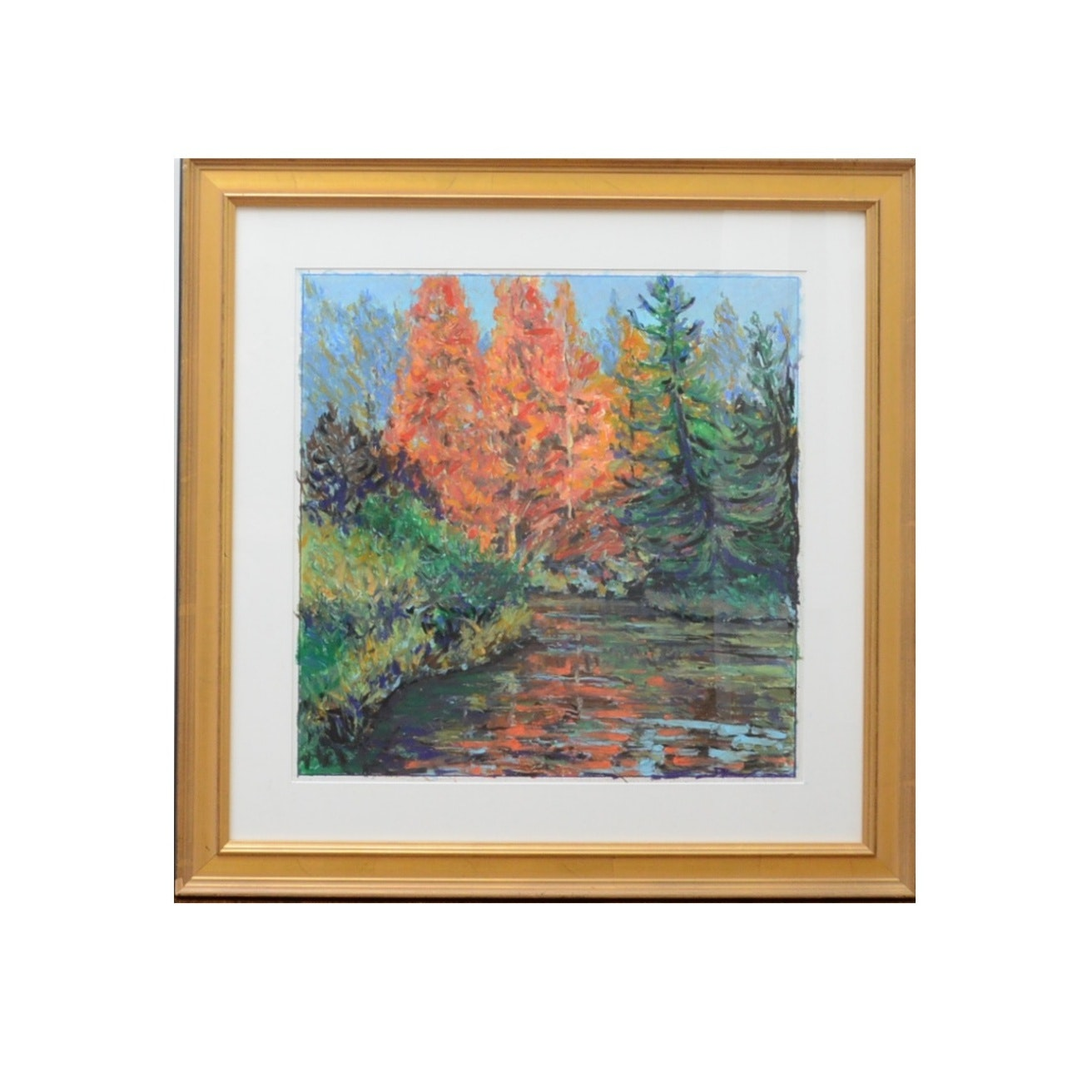 "Original Pastel by John Kluesener ""Autumn's Touch"""