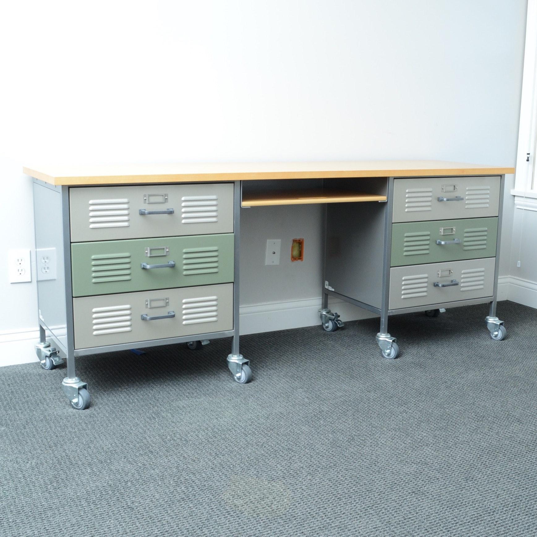 Locker Kneehole Desk by Pottery Barn Teen