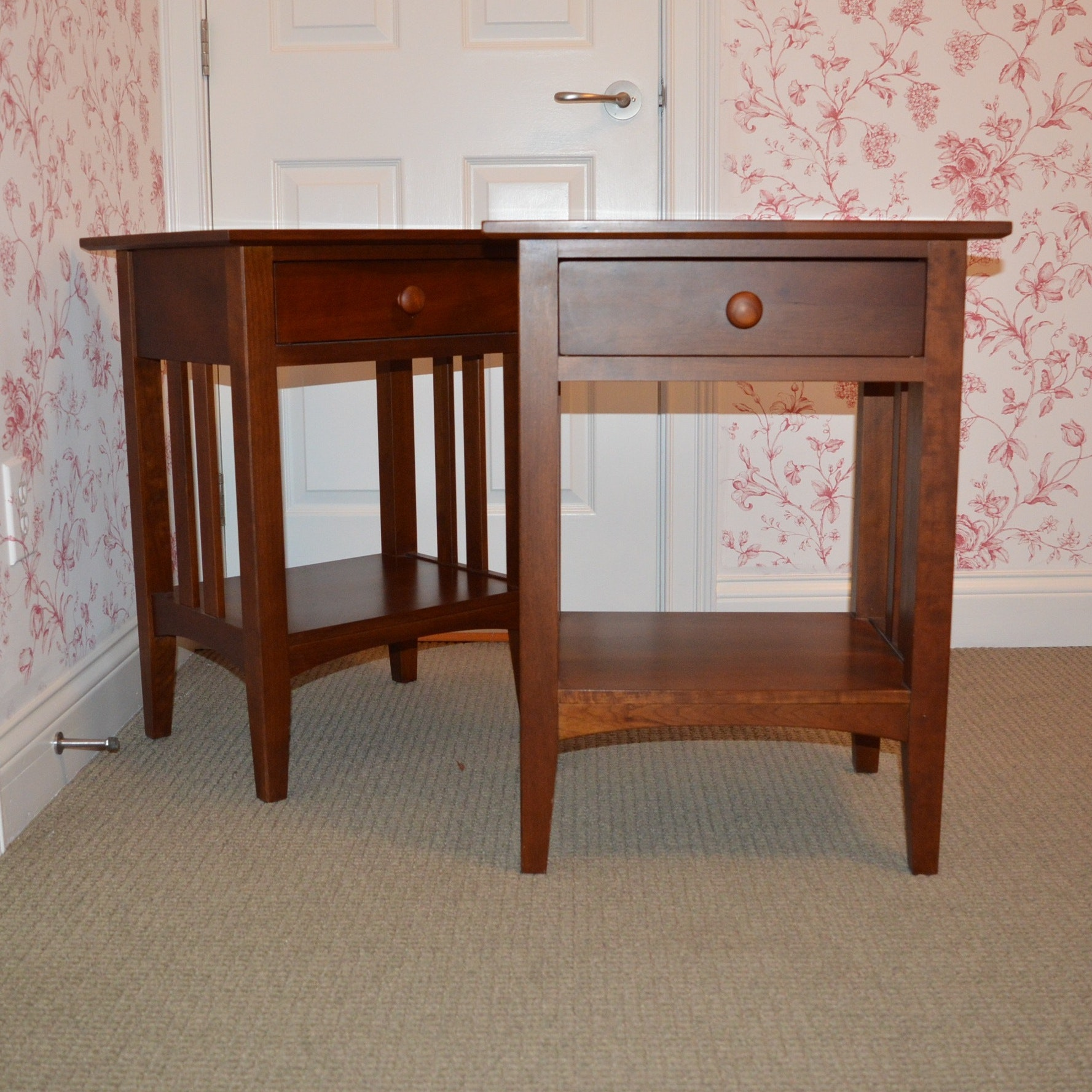 """Ethan Allen """"American Impressions""""  Cherry Night Stands"""