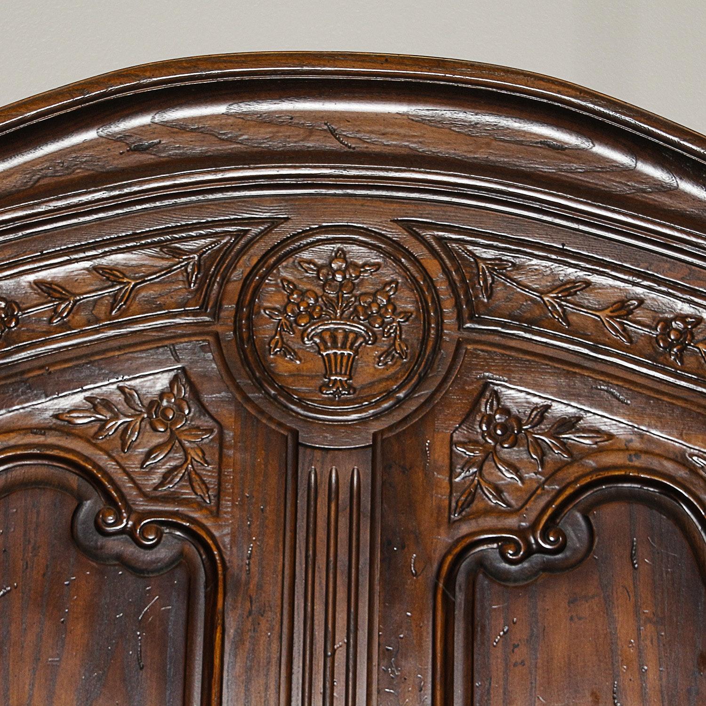 Louis Xv Style Oak Armoire Ebth