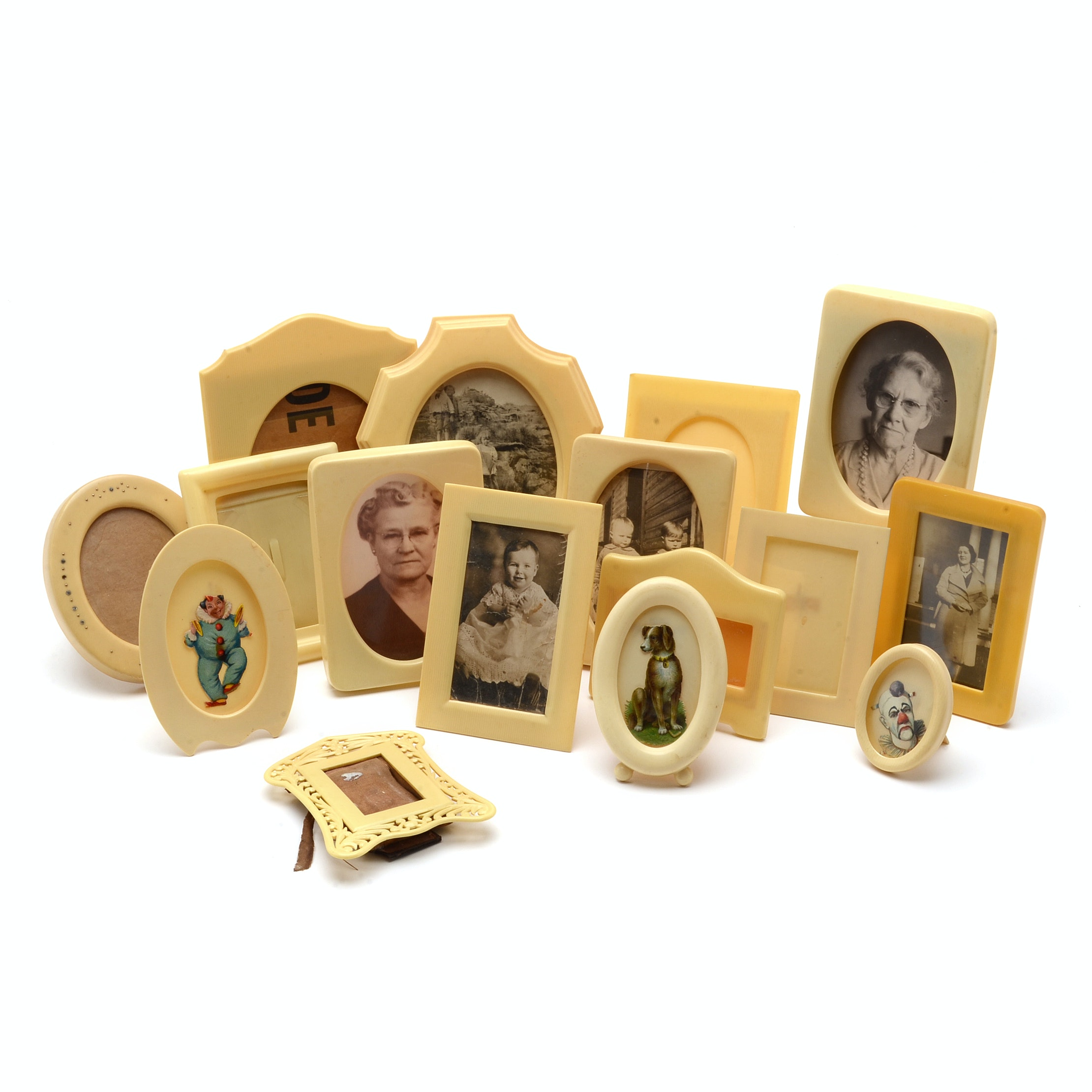 Vintage French Ivory Pyralin Frames