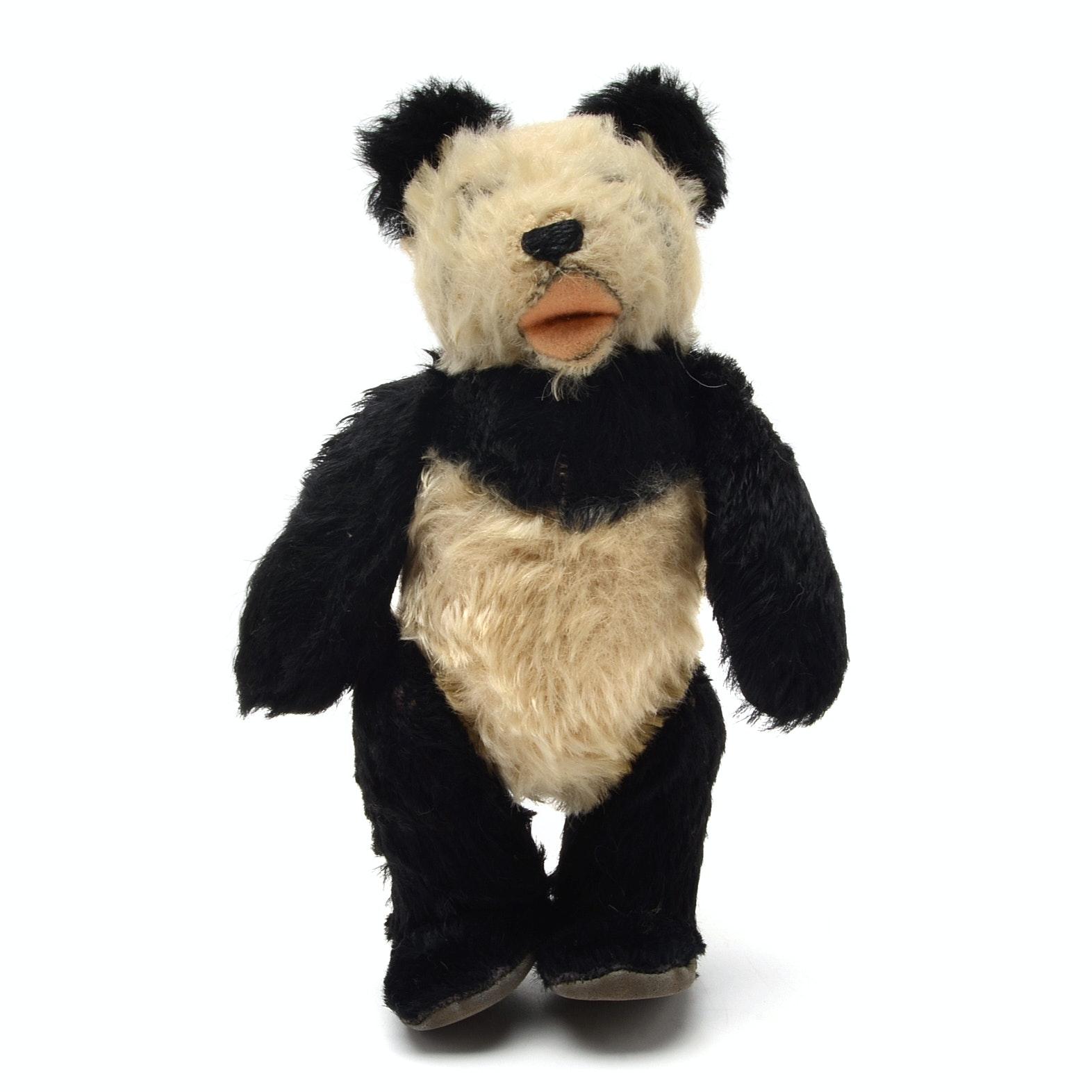 1950s Era Steiff Panda Bear Stuffed Animal