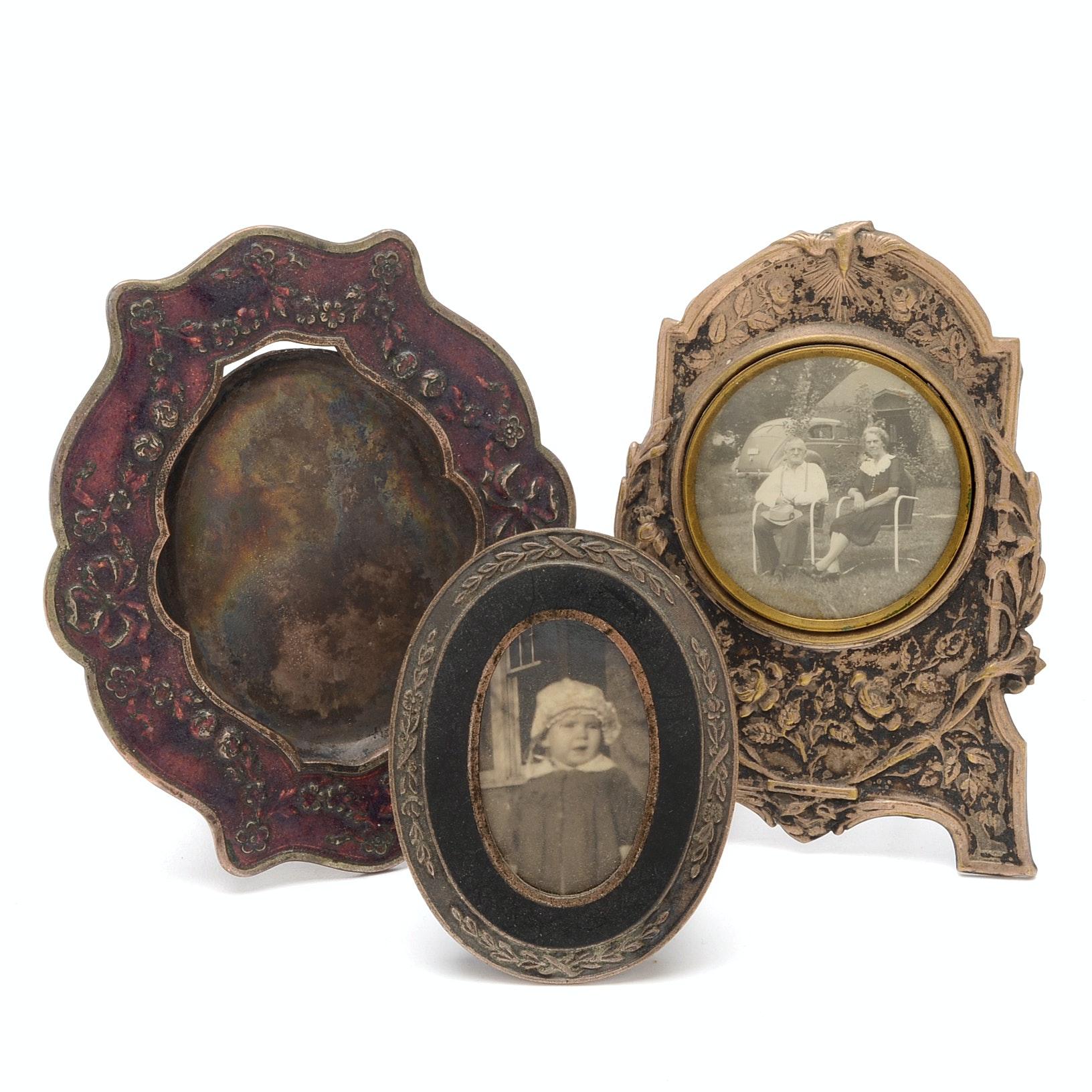 Antique Silver Plate Frames