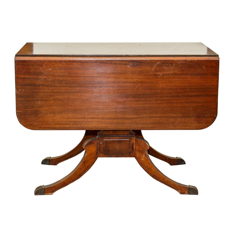 Vintage mahogany drop leaf extension table by extensole ebth for Drop leaf extension table