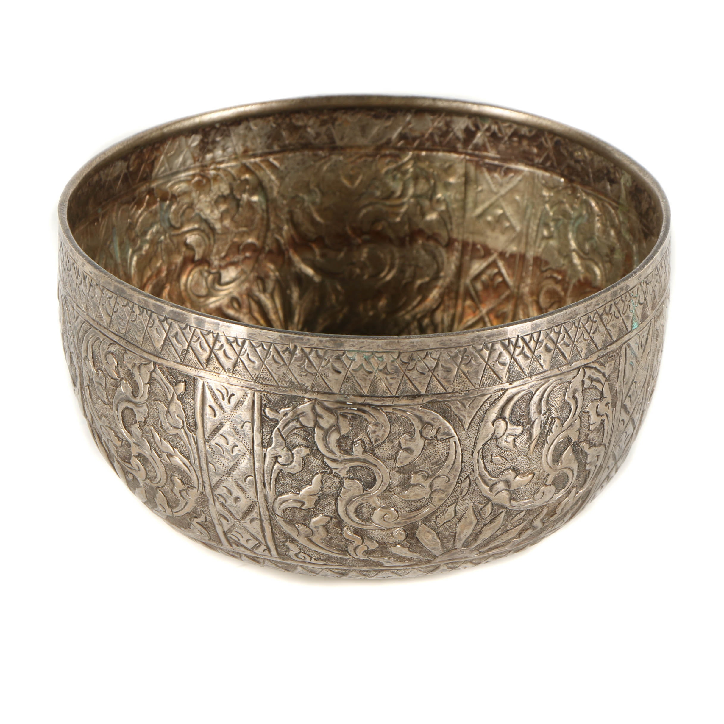 Chinese Silver Plated Decorative Bowl