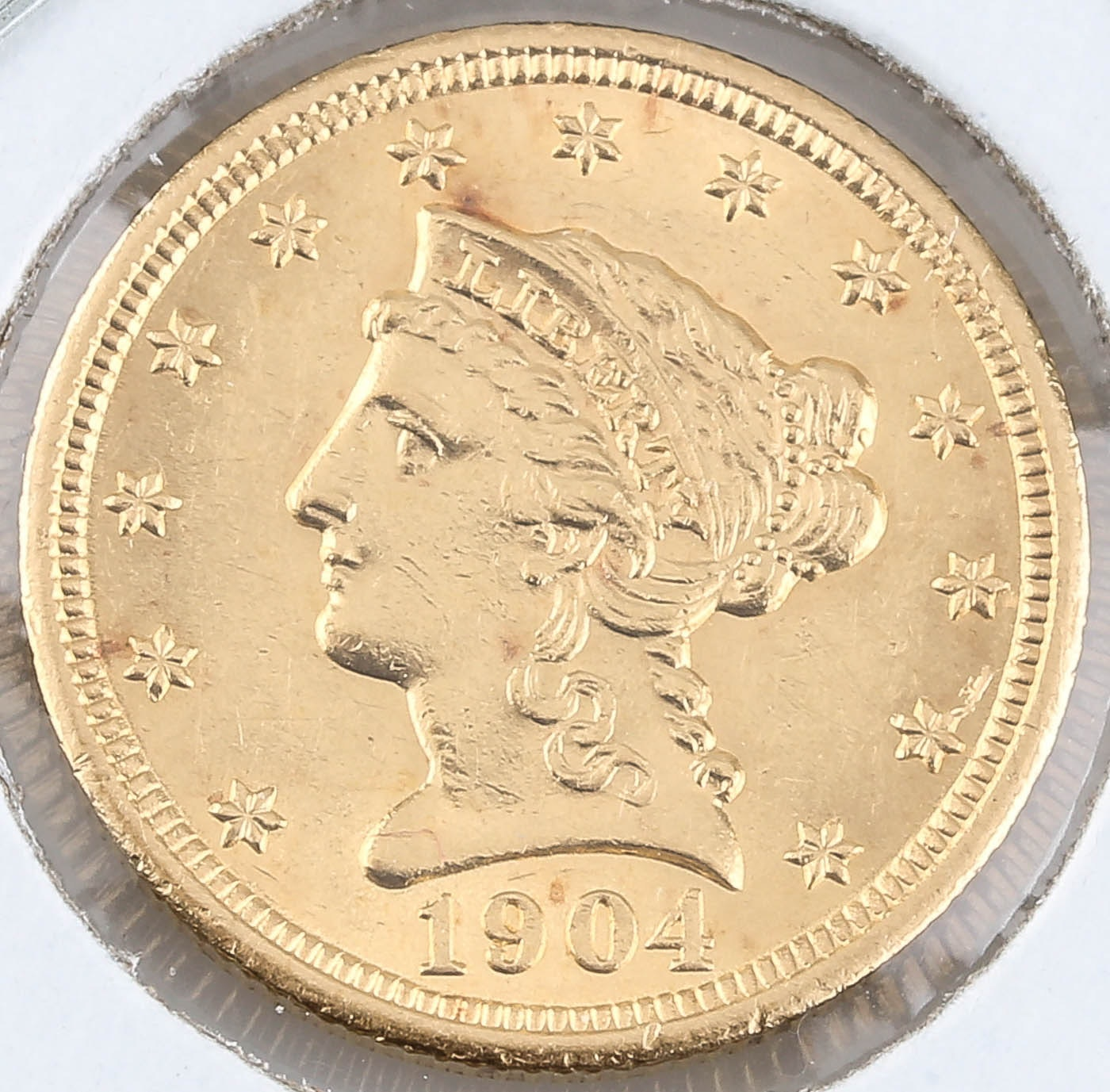 1904 Liberty Head $2 1/2 Gold Coin