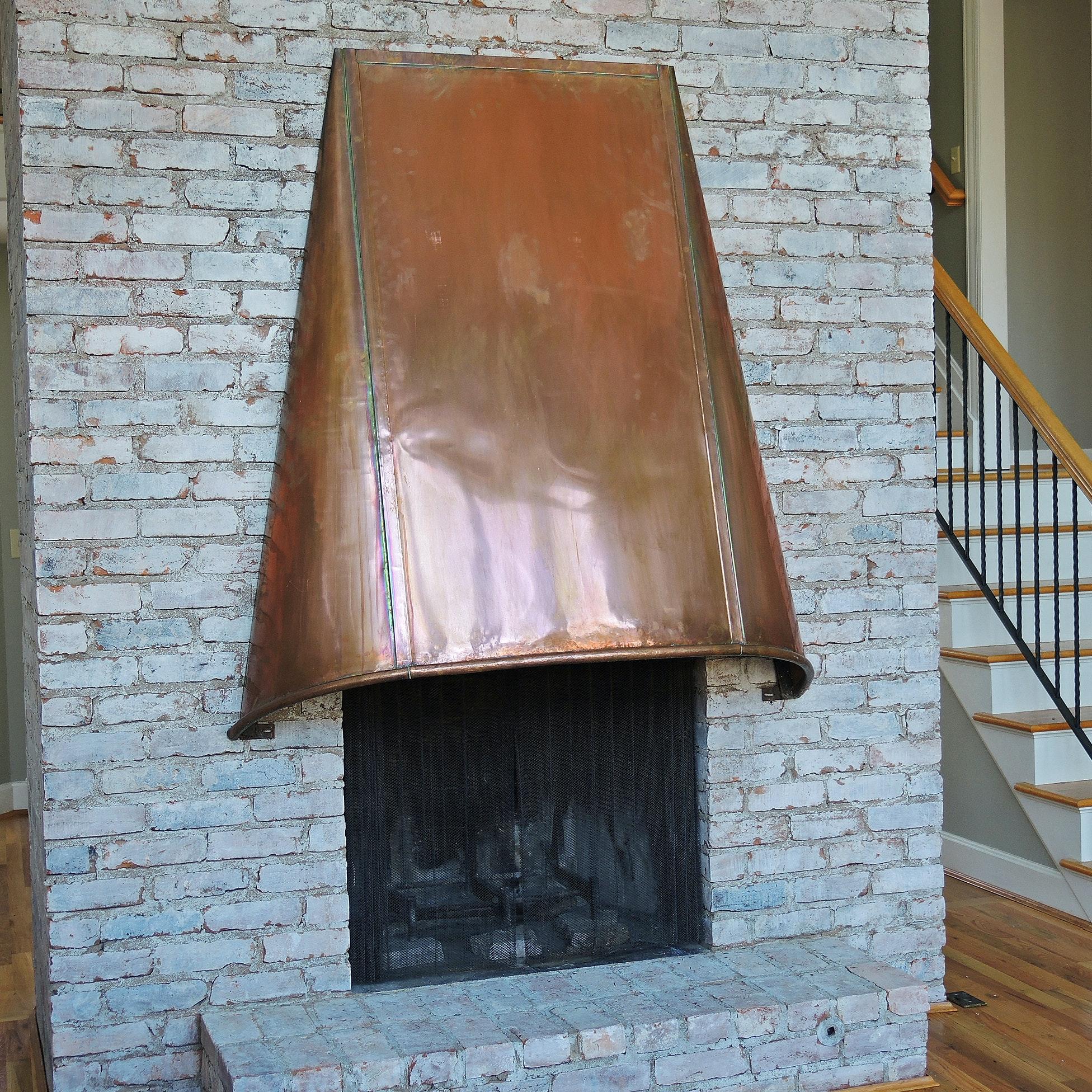 Excellent Large Copper Fireplace Hood : EBTH KS19