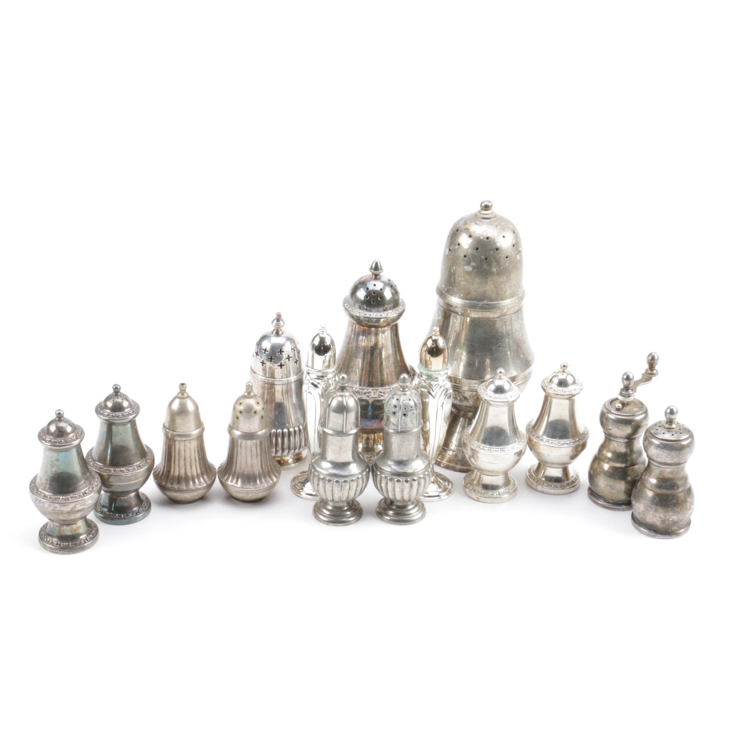 Silver-Plated and Toned Shaker Collection Including Oneida