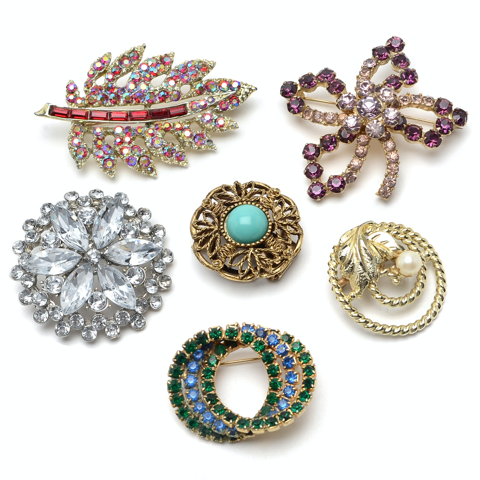 Assortment of Costume Brooches