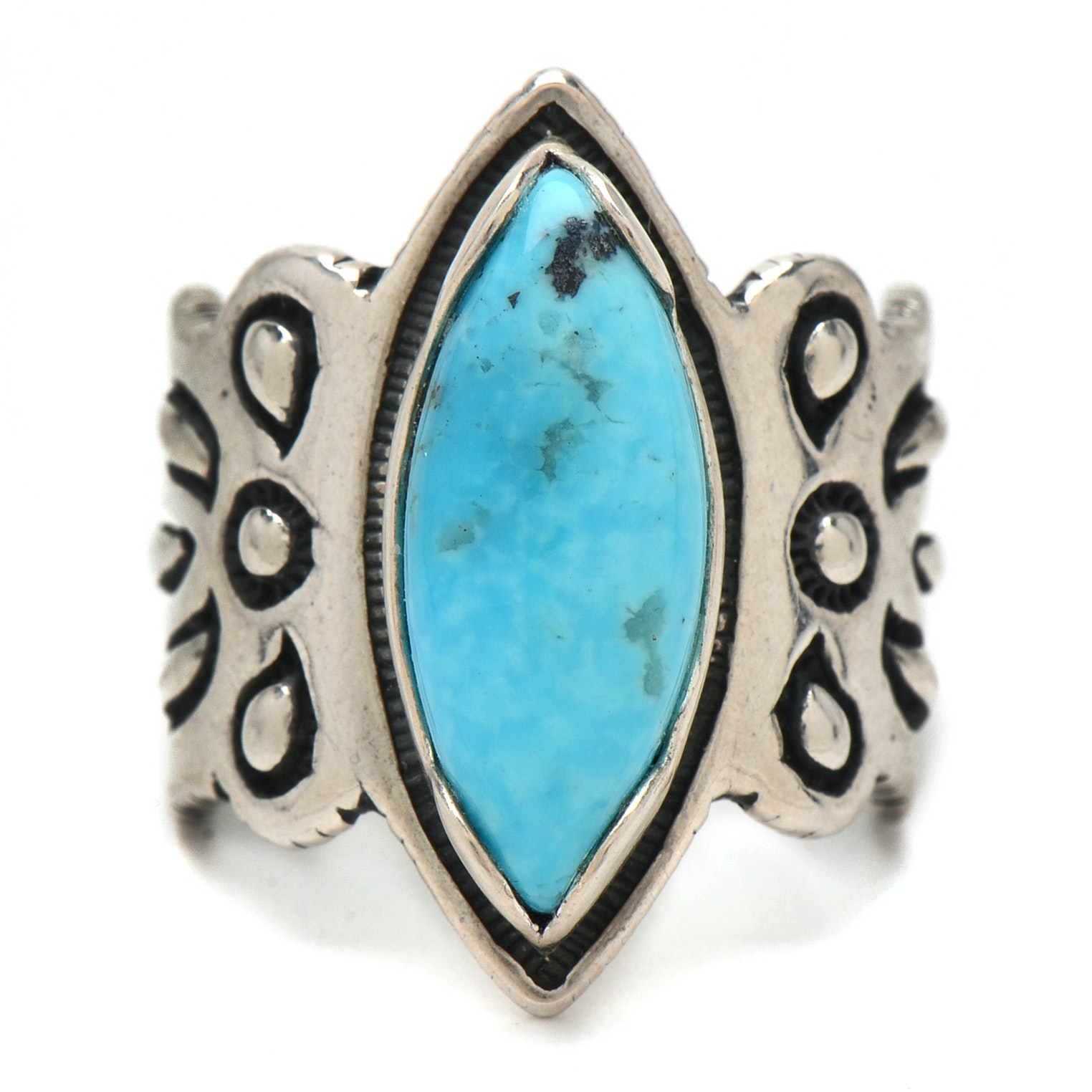 Cody Sanderson Diné for Relios by Carolyn Pollack Sterling Silver Turquoise Ring