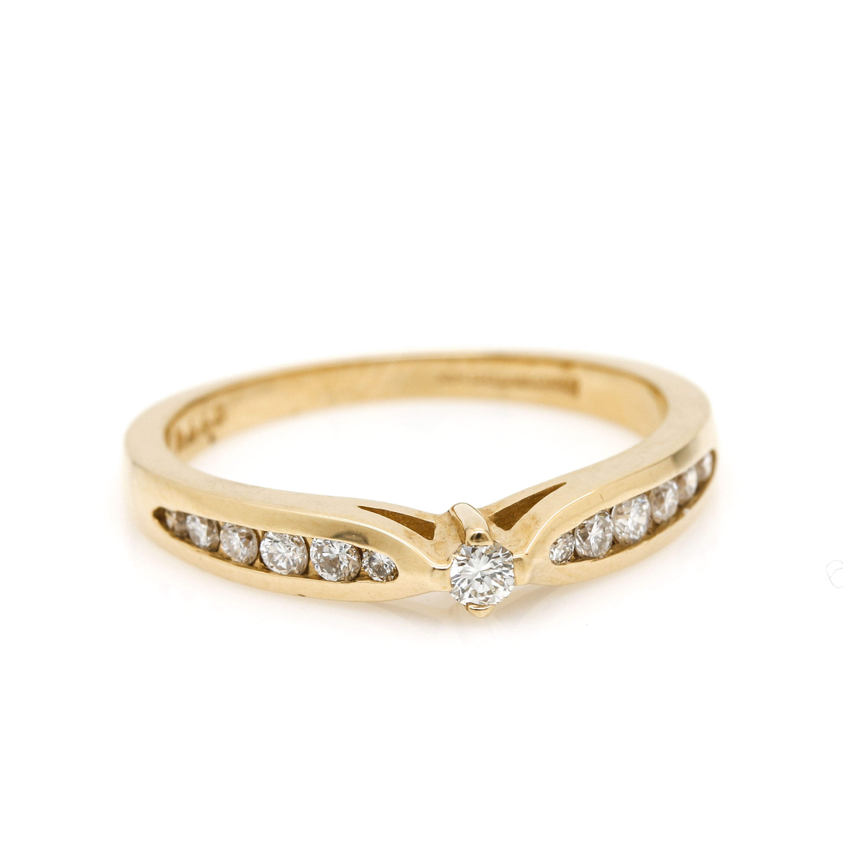 Artcarved 14K Yellow Gold Diamond Ring