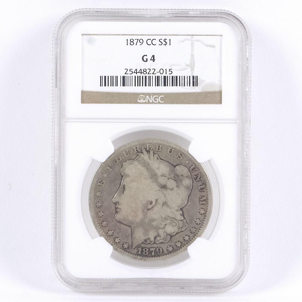Encapsulated 1879 Carson City Morgan Silver Dollar