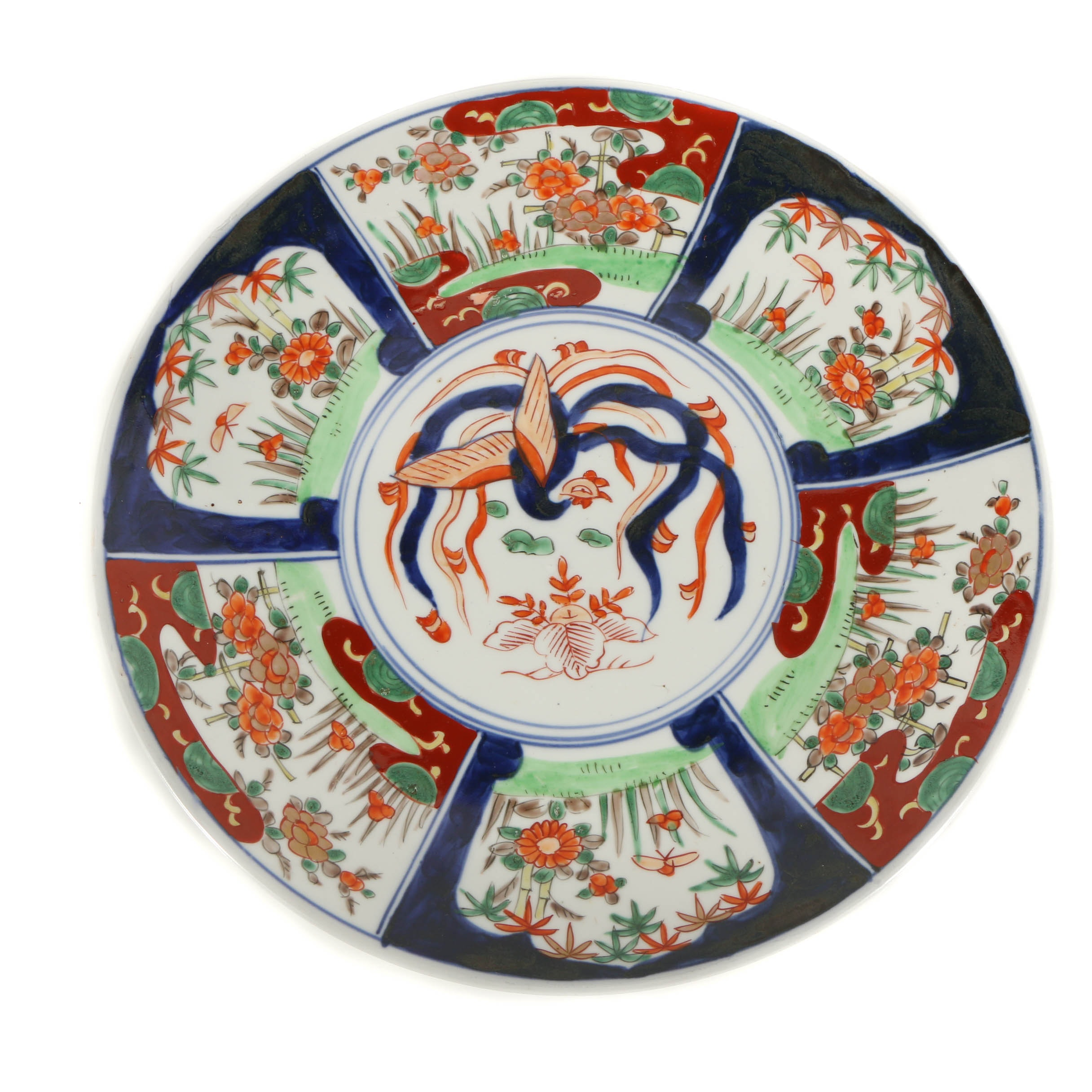 Japanese Porcelain Imari Plate with Floral Motif