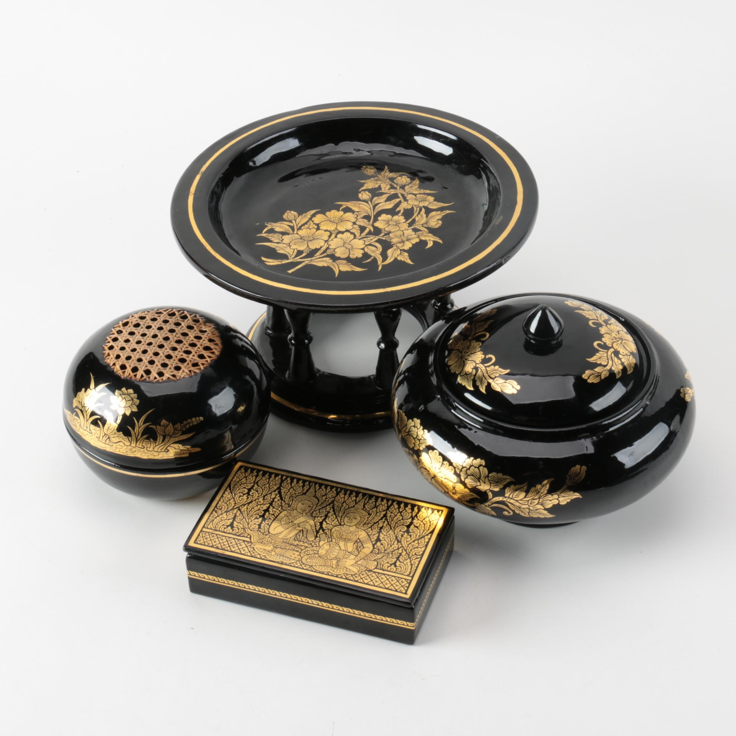 Selection of Asian Lacquerware
