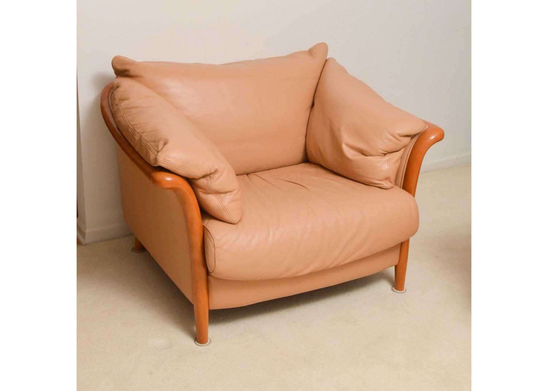 Danish Modern Style Leather Chair