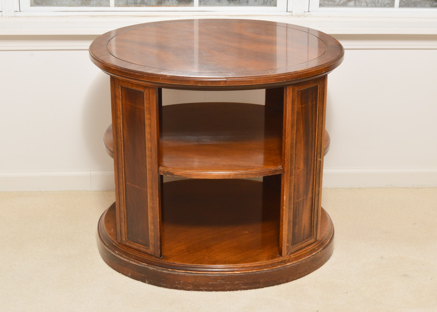 Vintage Oval Tiered Table