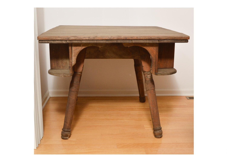 Antique Oak Game Table