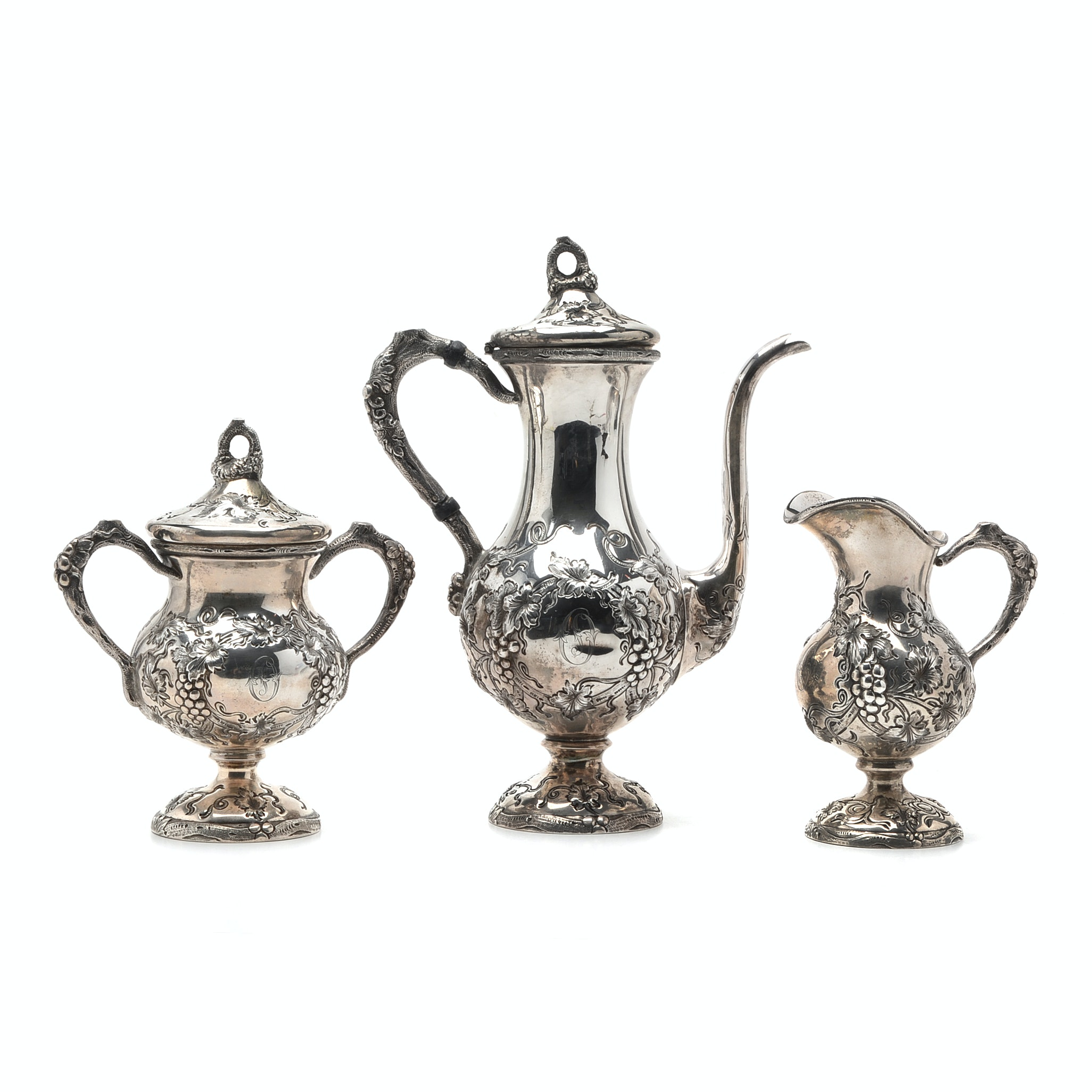 Early 20th Schofield Company Three-Piece Sterling Silver Coffee Set
