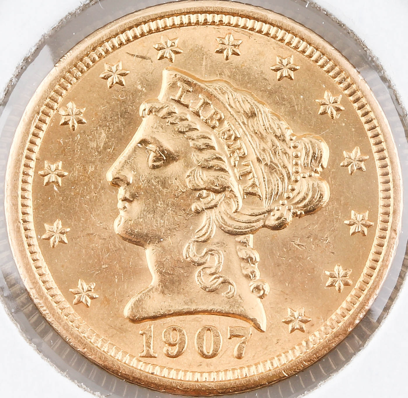 1907 Liberty Head $2 1/2 Gold Coin
