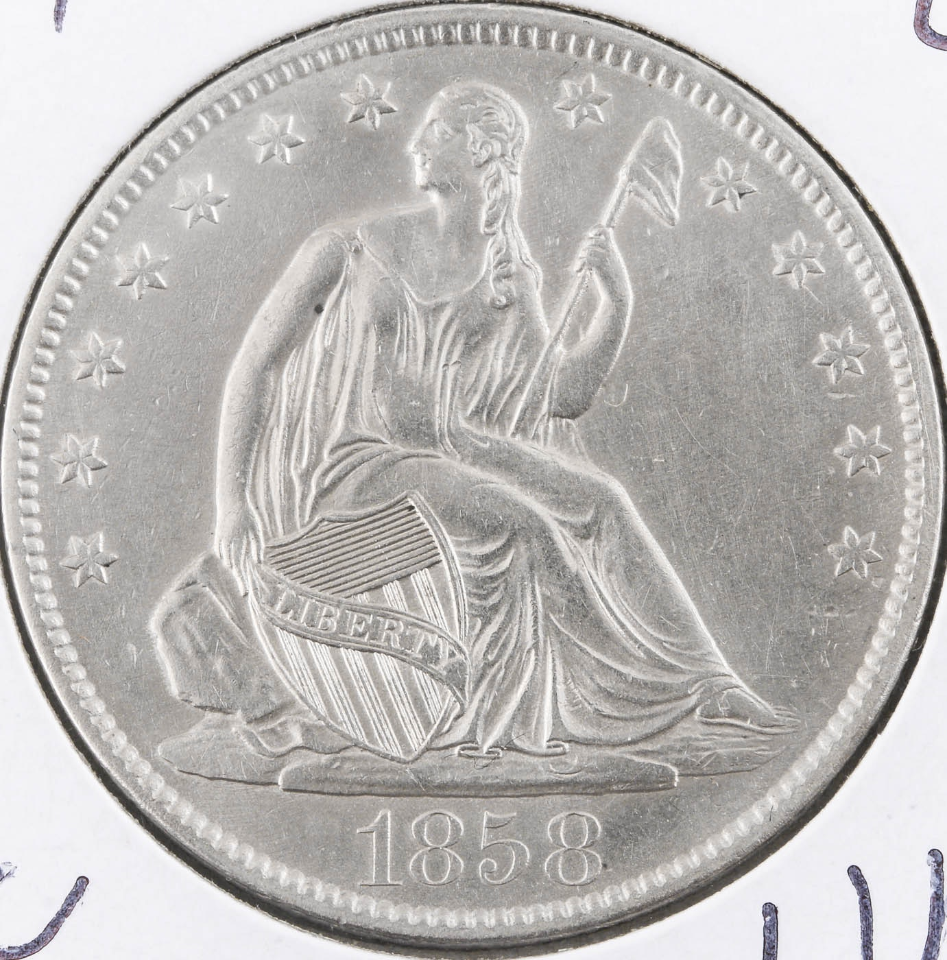 1858-O Seated Liberty Silver Half Dollar