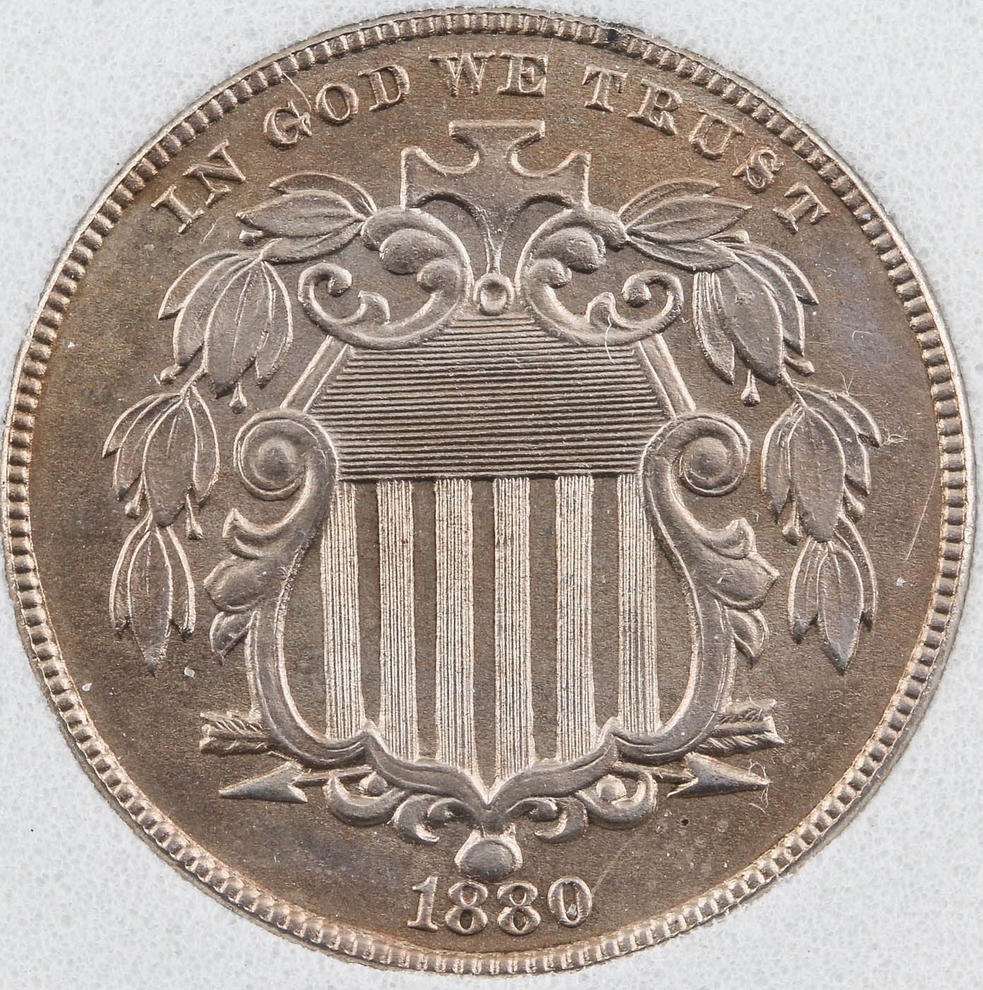 1880 Shield Nickel Proof Coin