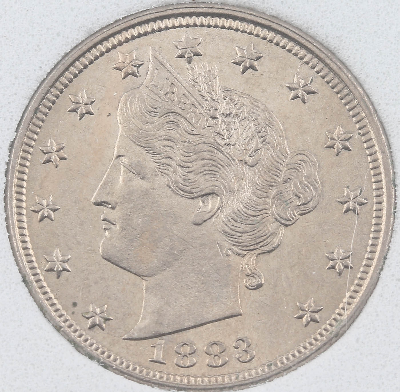 1883 Liberty Nickel Without Cents