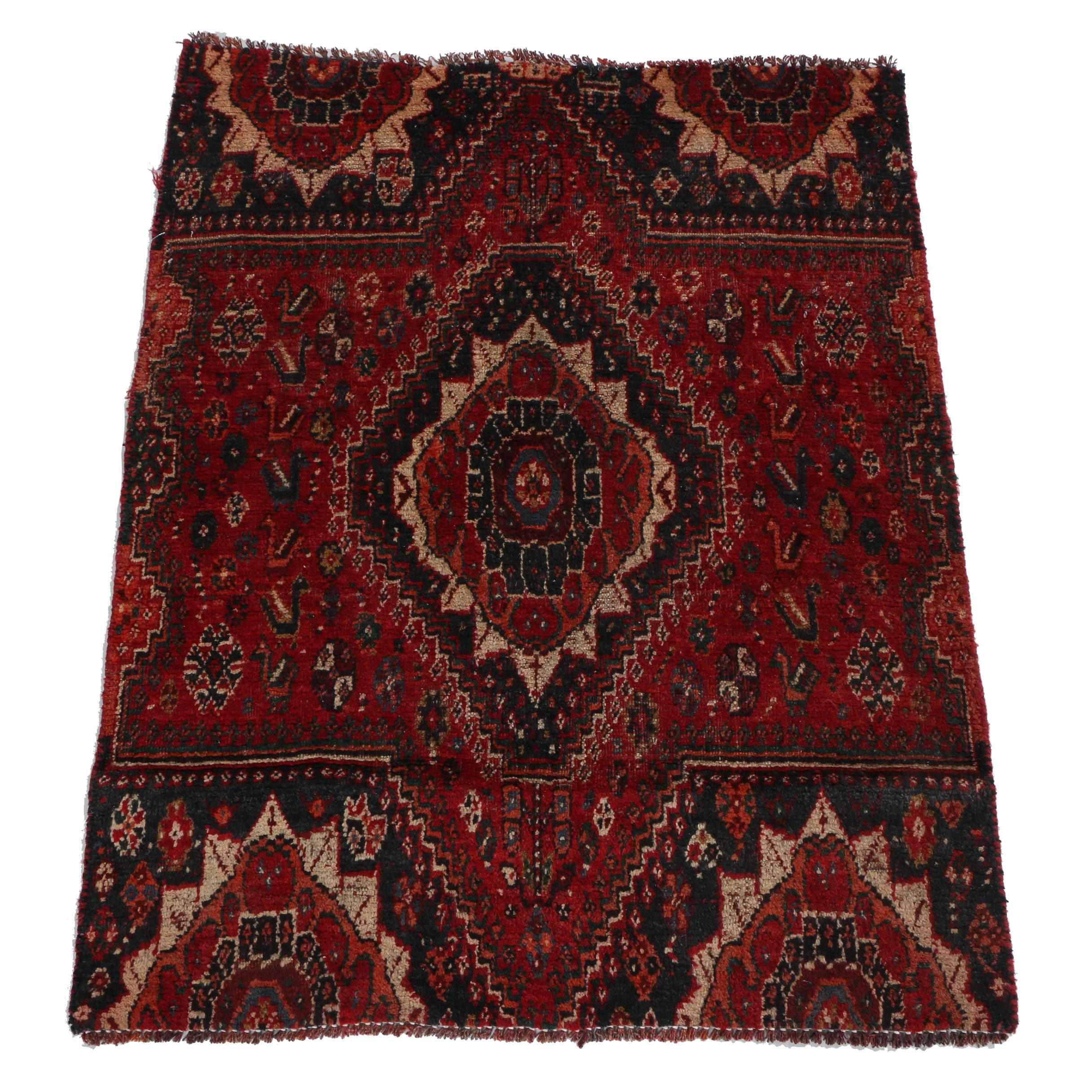 Hand-Knotted Persian Qashqai Accent Rug